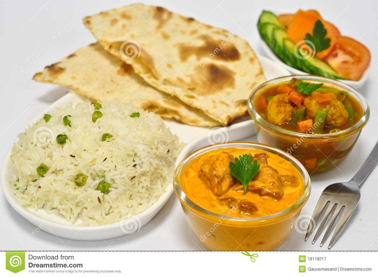 Indian Meal with Butter Chicken