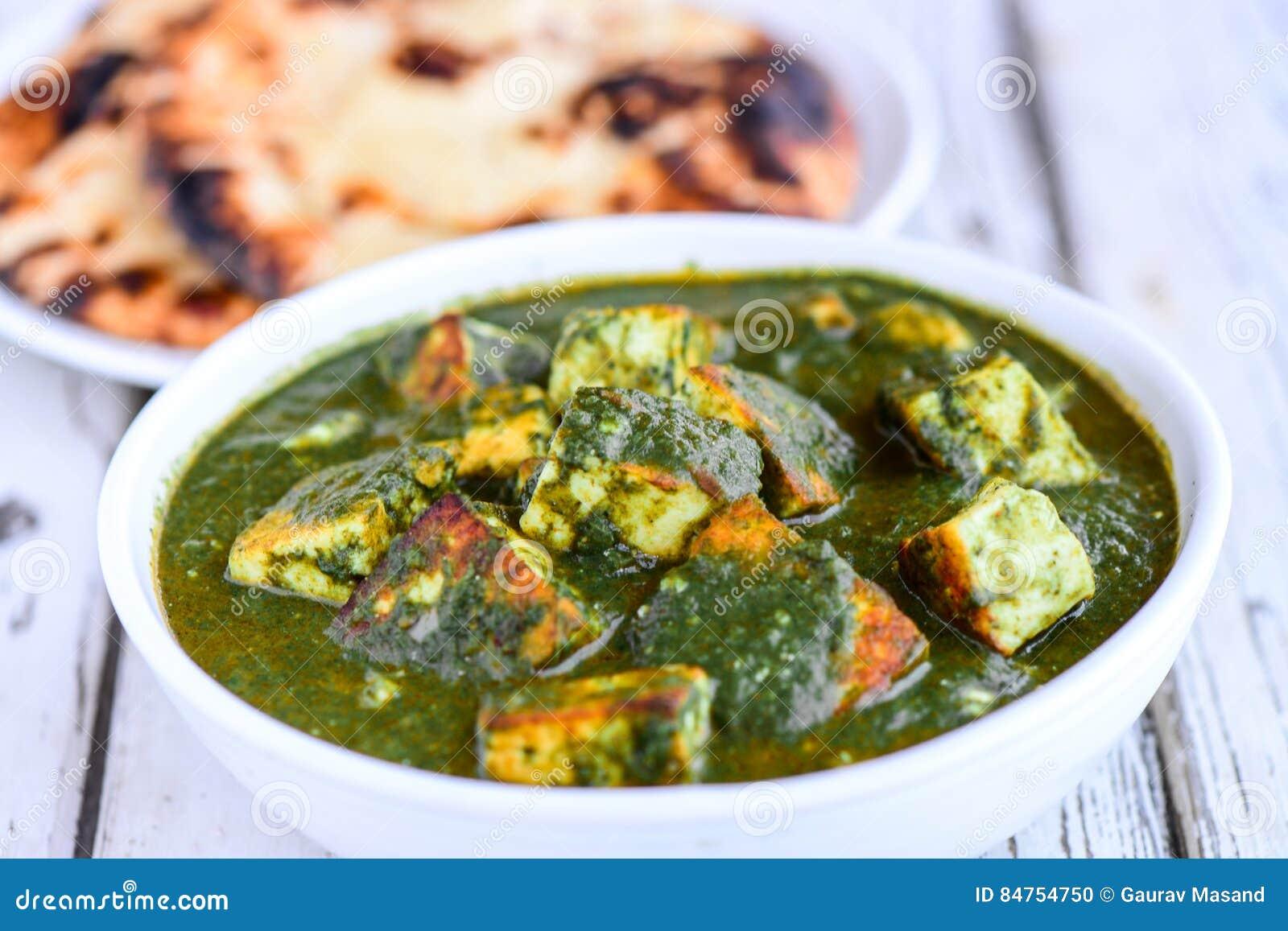 Indian meal-Palak paneer and tandoori roti