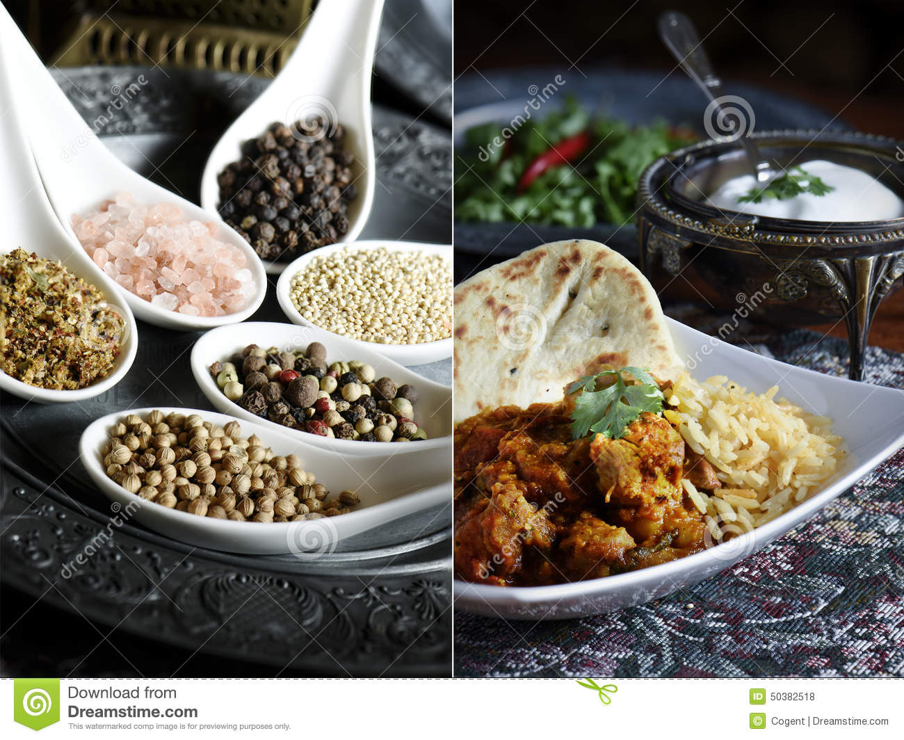 Indian Food Montage