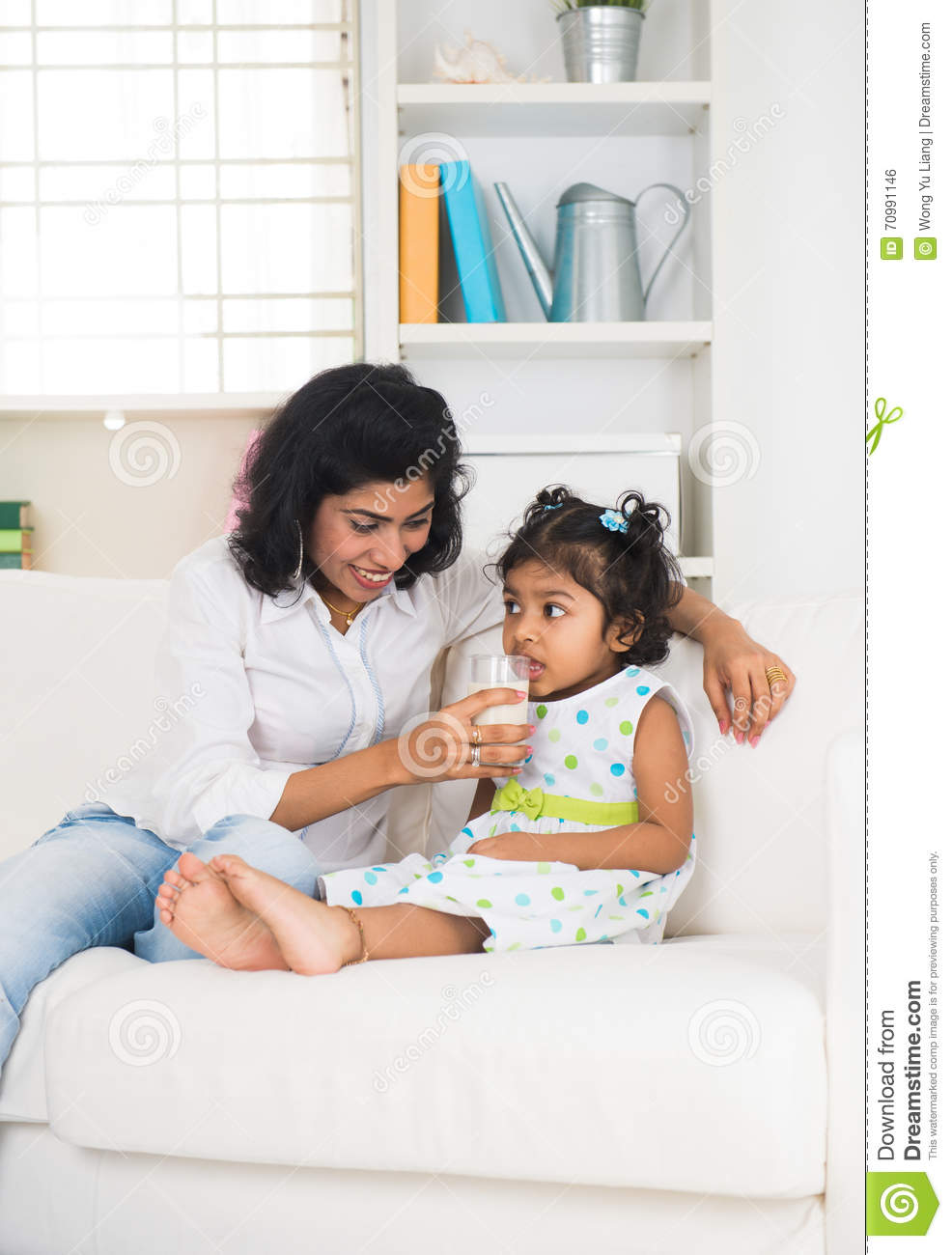 Indian mother and child stock photo  Image of indian - 70991146