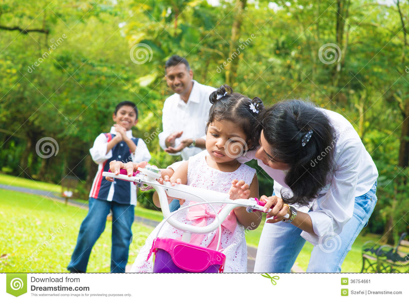 Young native indian beggar woman girl mother holding