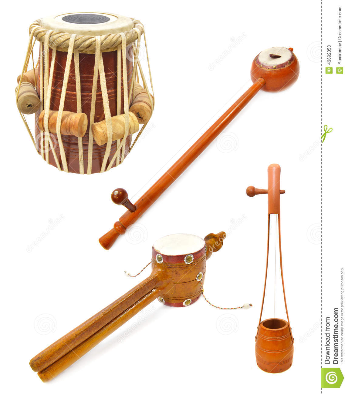 Indian musical instruments stock image. Image of homemade ...