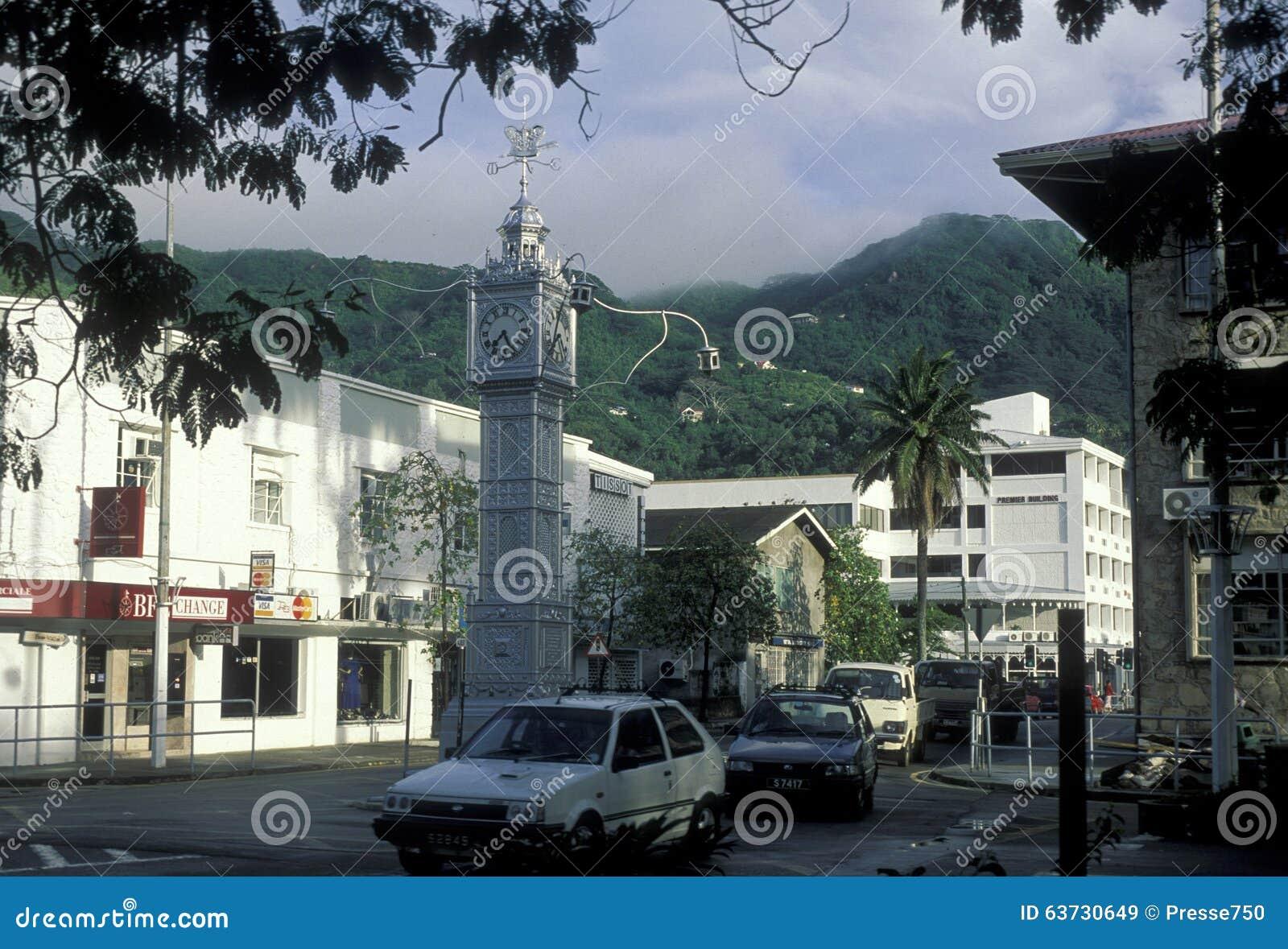Indian Ocean Seychelles Mahe Victoria City Stock Images Photos - Seychelles victoria map indian ocean