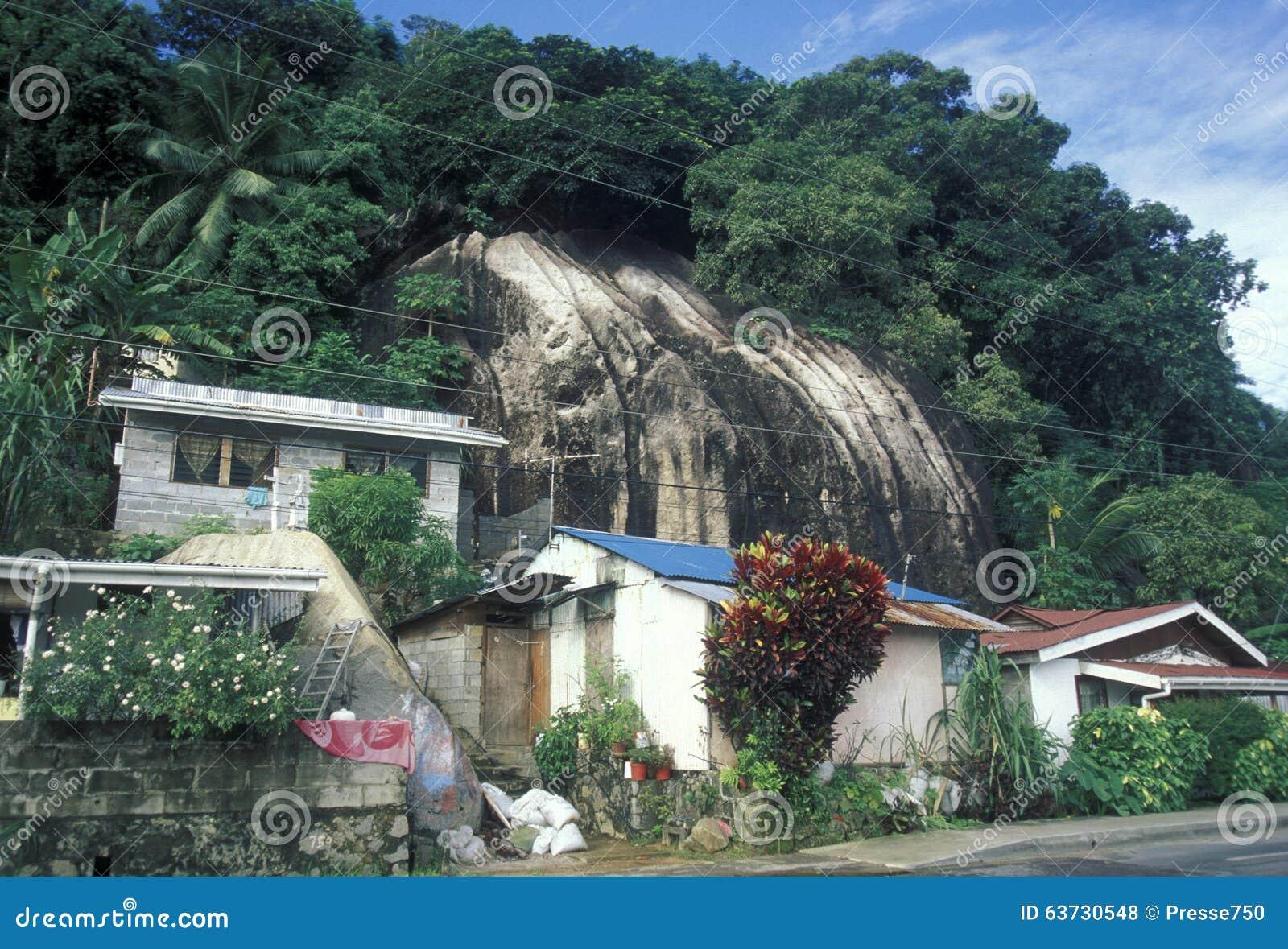 INDIAN OCEAN SEYCHELLES MAHE VICTORIA CITY Editorial Stock Photo - Seychelles victoria map indian ocean