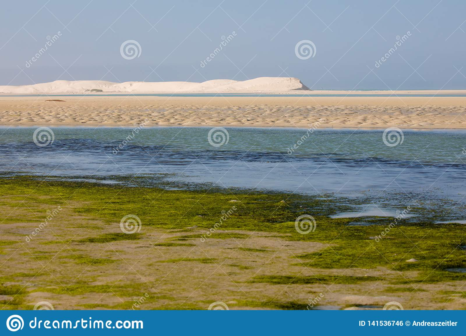 Indian Ocean view in the De Mond coastal nature reserve, South Africa