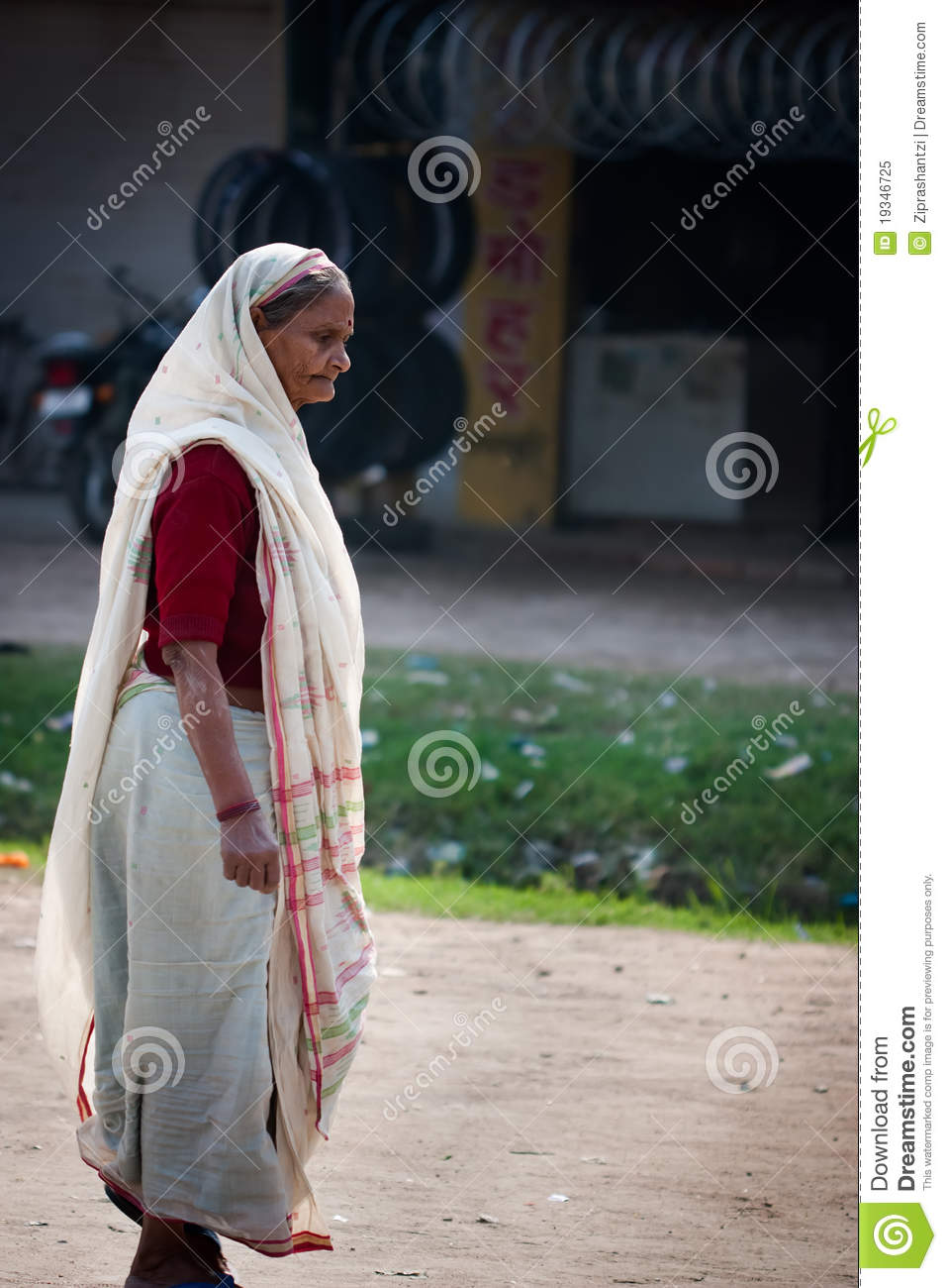 Indian Old Woman Editorial Image Image Of Skinny, Think -5368