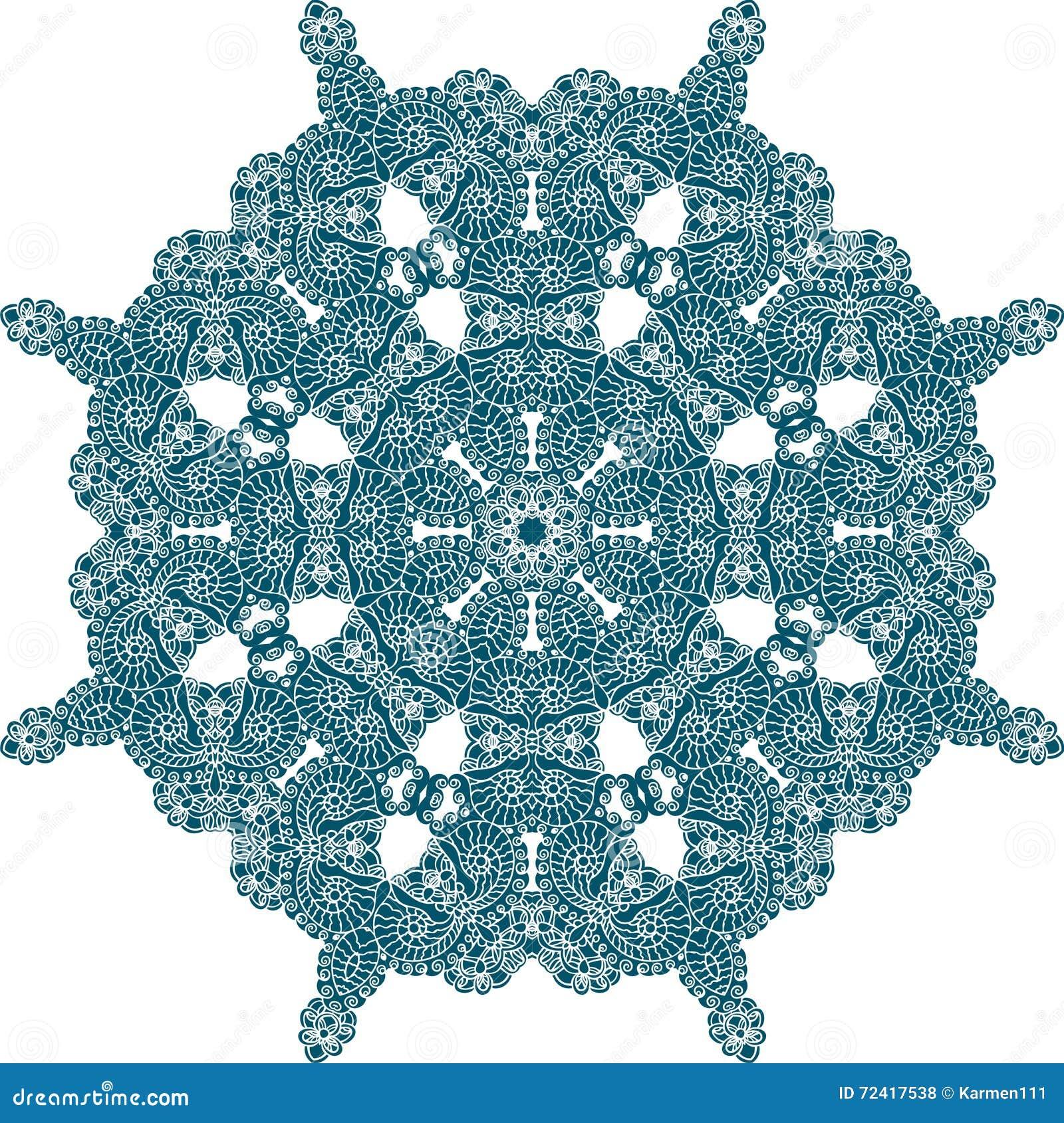 Indian Ornament Paisley Floral Pattern Mandala Circle Colorful