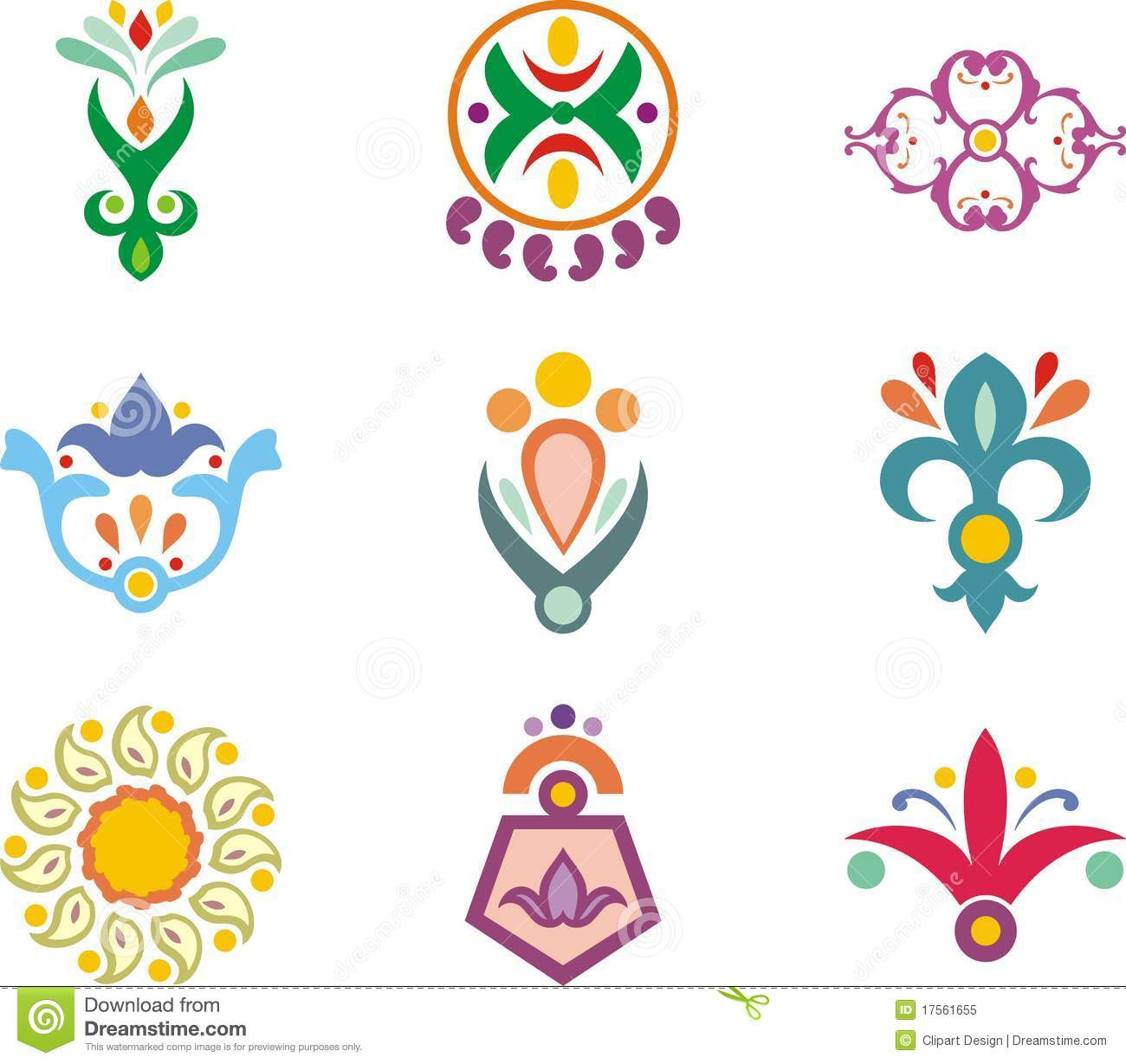 Indian Ornamental Designs Royalty Free Stock Photo Image