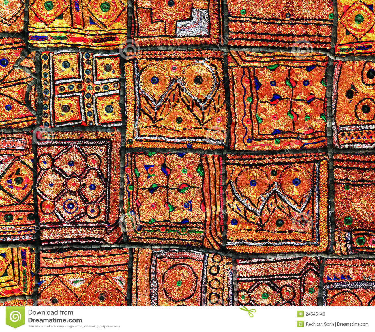Indian Patchwork Carpet Stock Photo Image 24545140