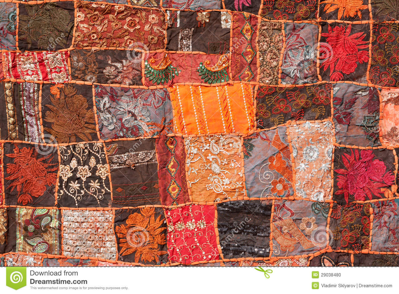 Indian Patchwork Carpet Stock Photo Image 29038480