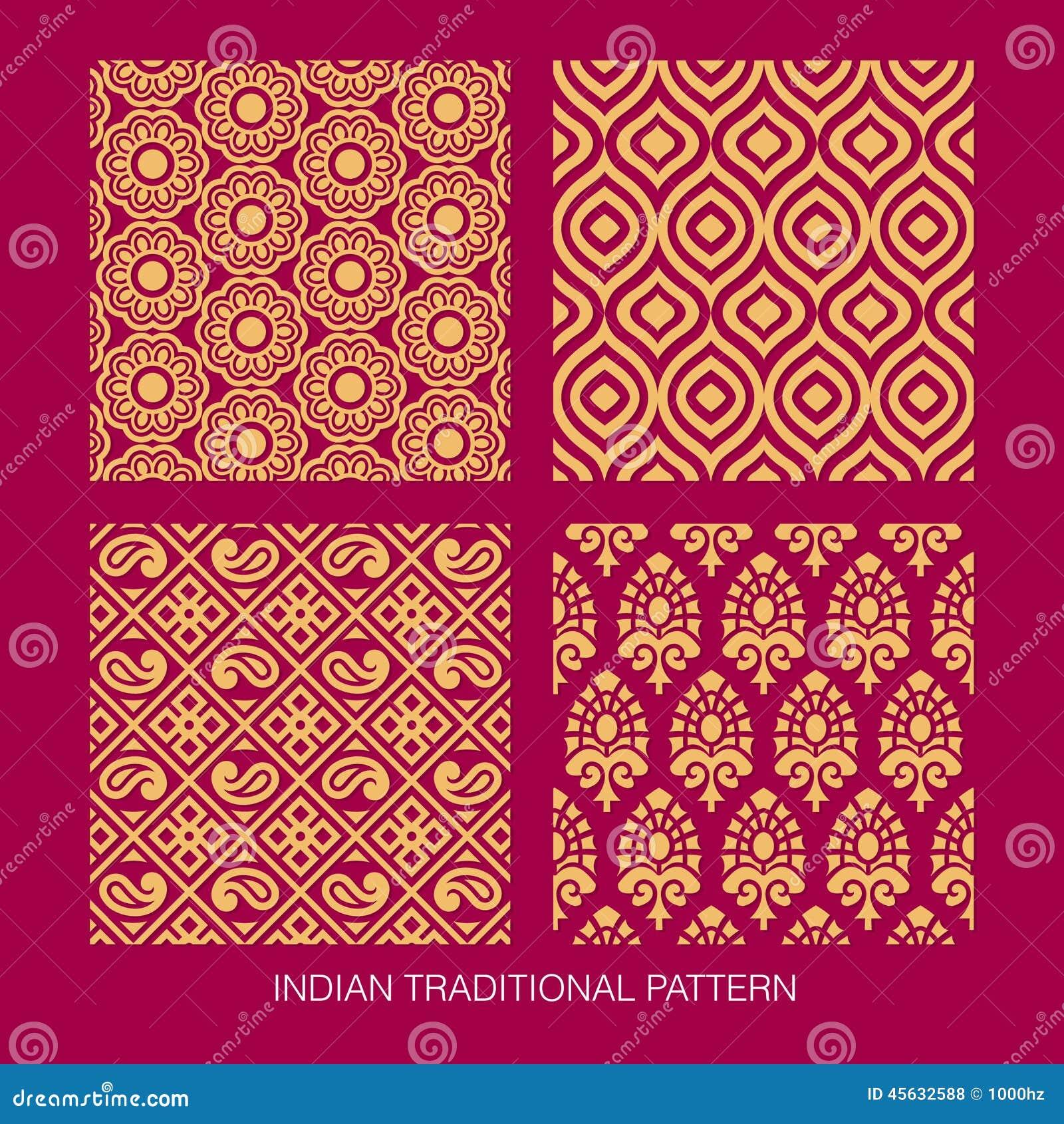 indian pattern design stock vector illustration of asia