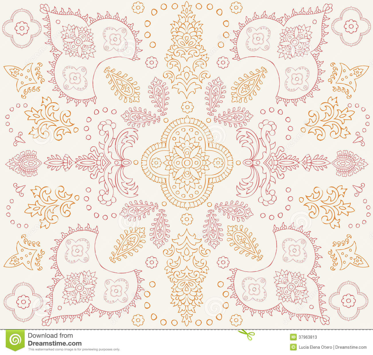 Traditional Indian Style Interior Design: Indian Pattern Stock Photos