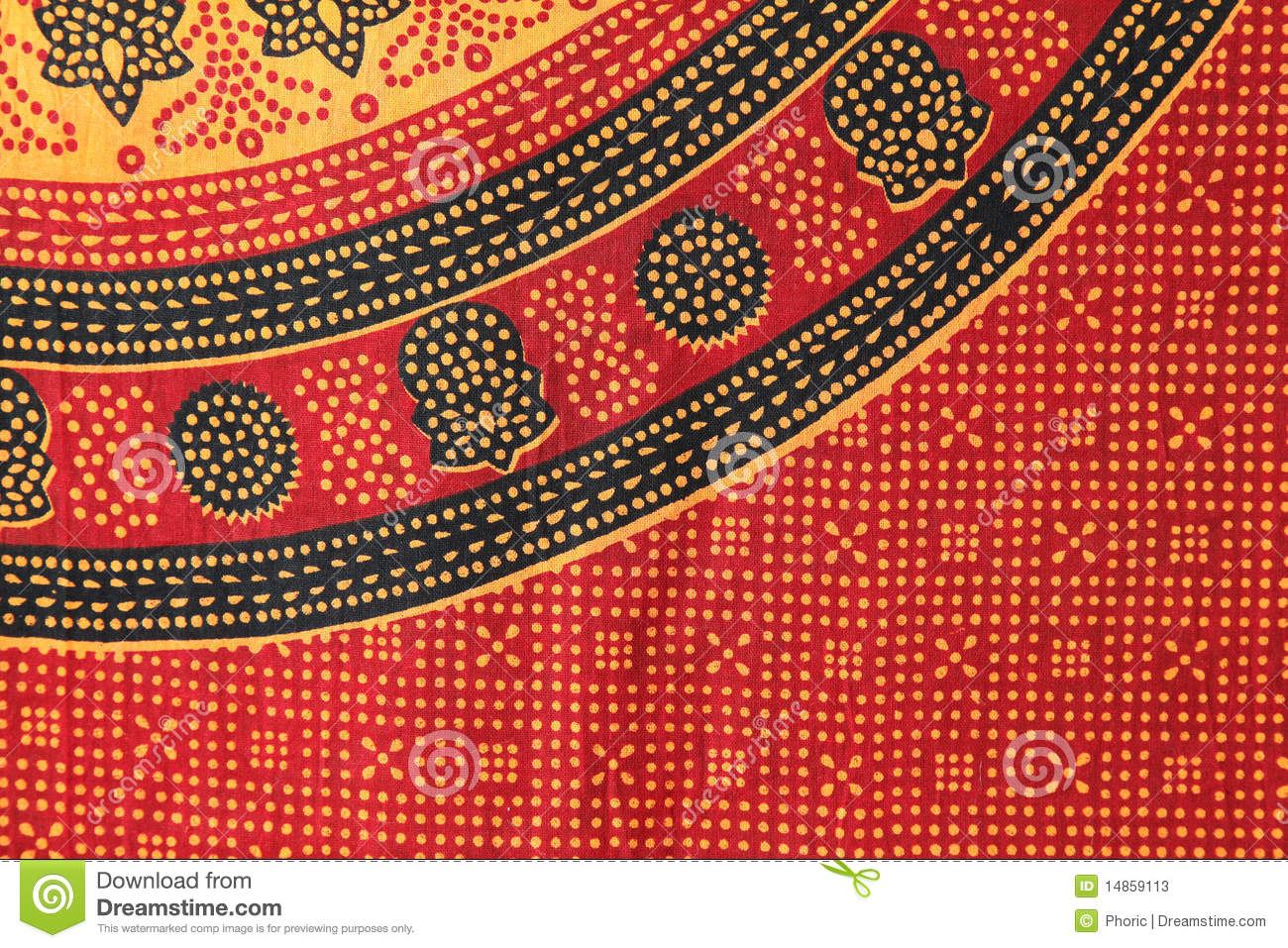 Indian patterned fabric
