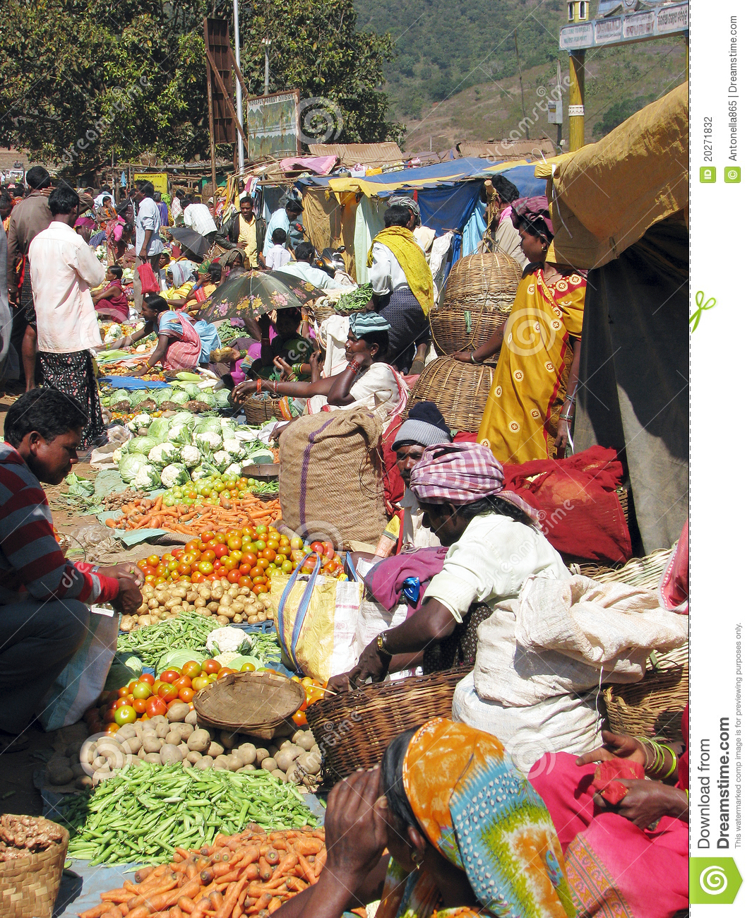 Indian People In The Rural Area Market Editorial Photography - Image ...