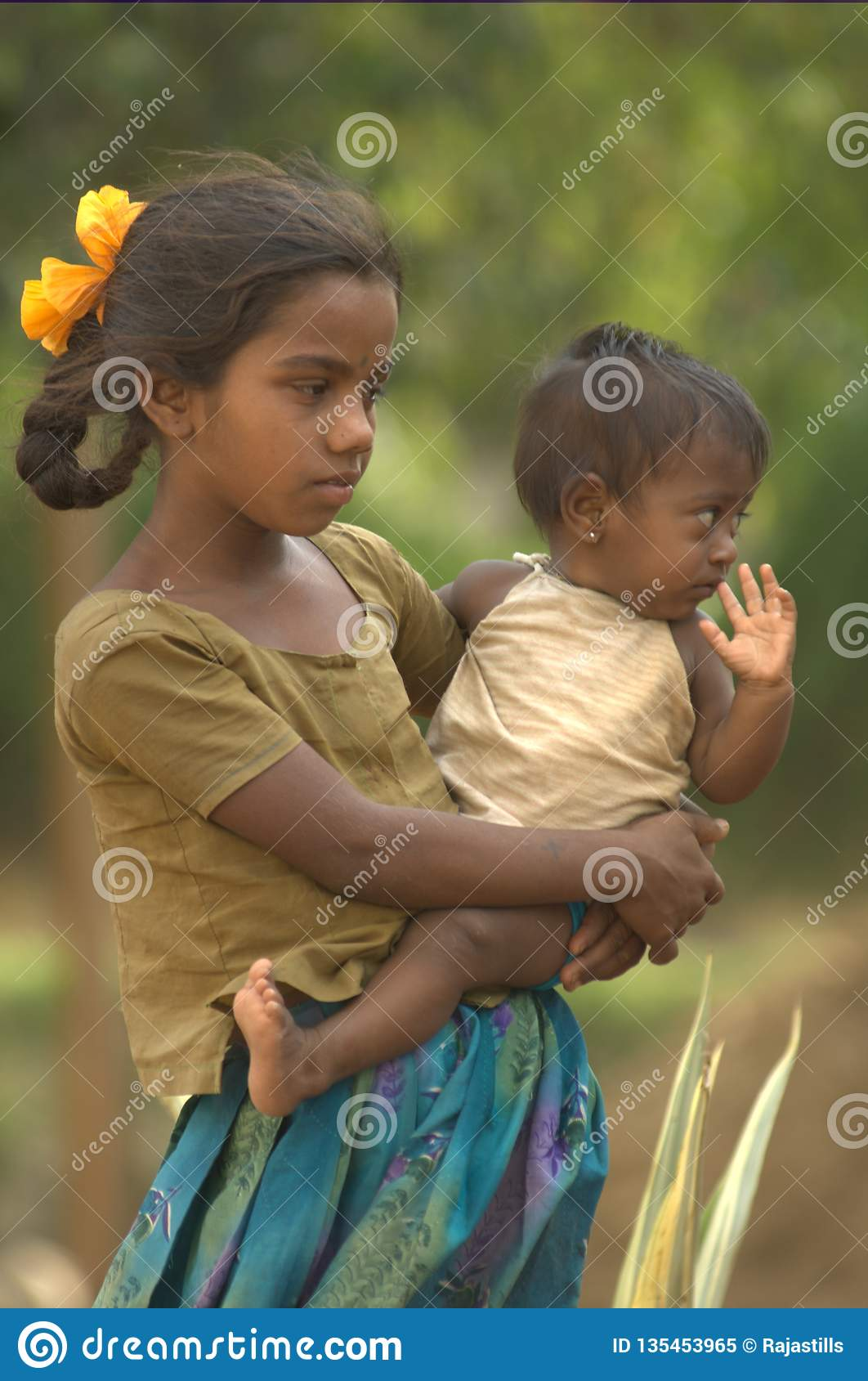 Indian Poor Brother And Sister Editorial Image - Image of