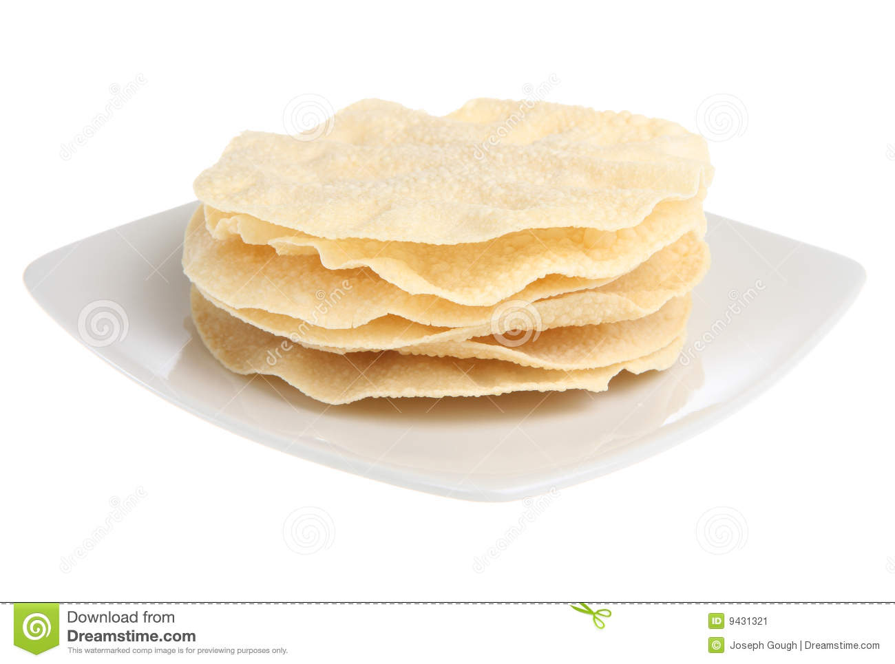 Indian Poppadoms Stock Image - Image: 9431321