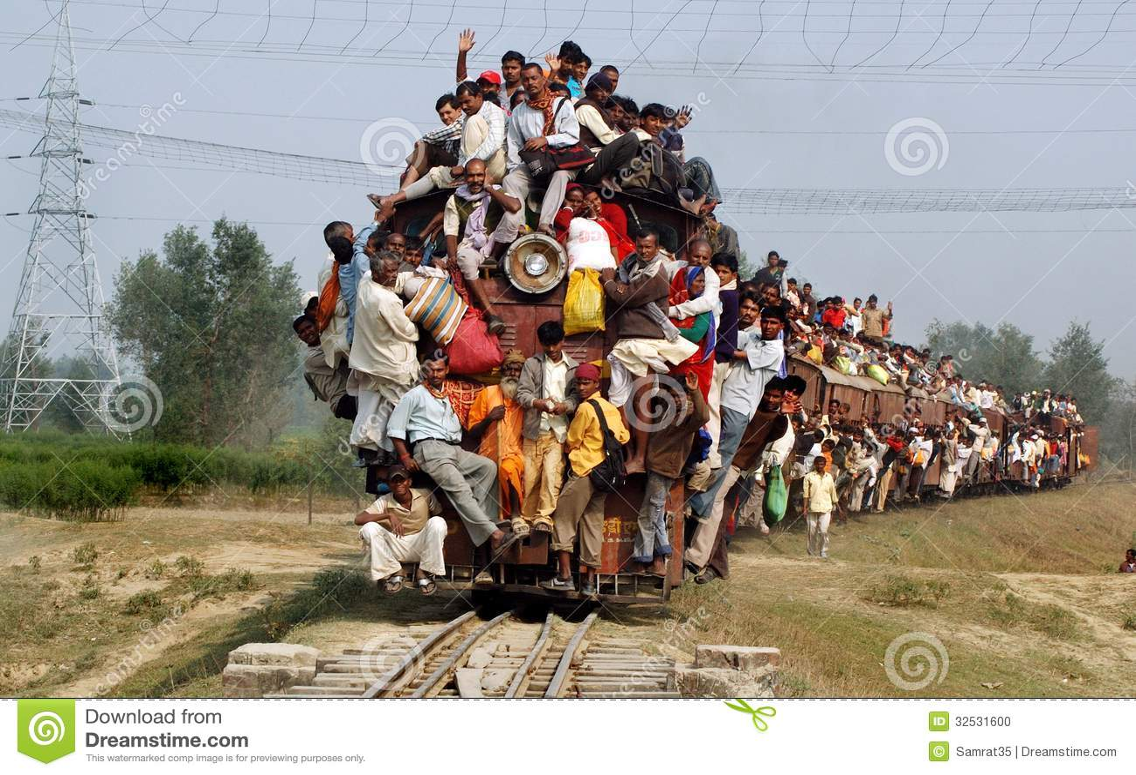 Indian Rail Passengers.