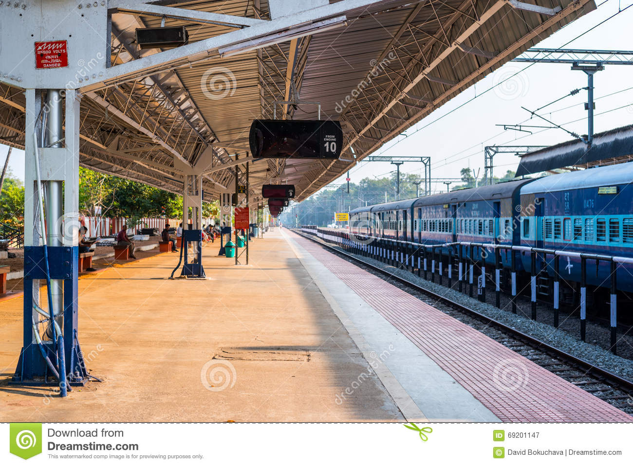 Alleppey India  city images : ... the Alleppey railway station on February 7, 2016 in Alleppey, India