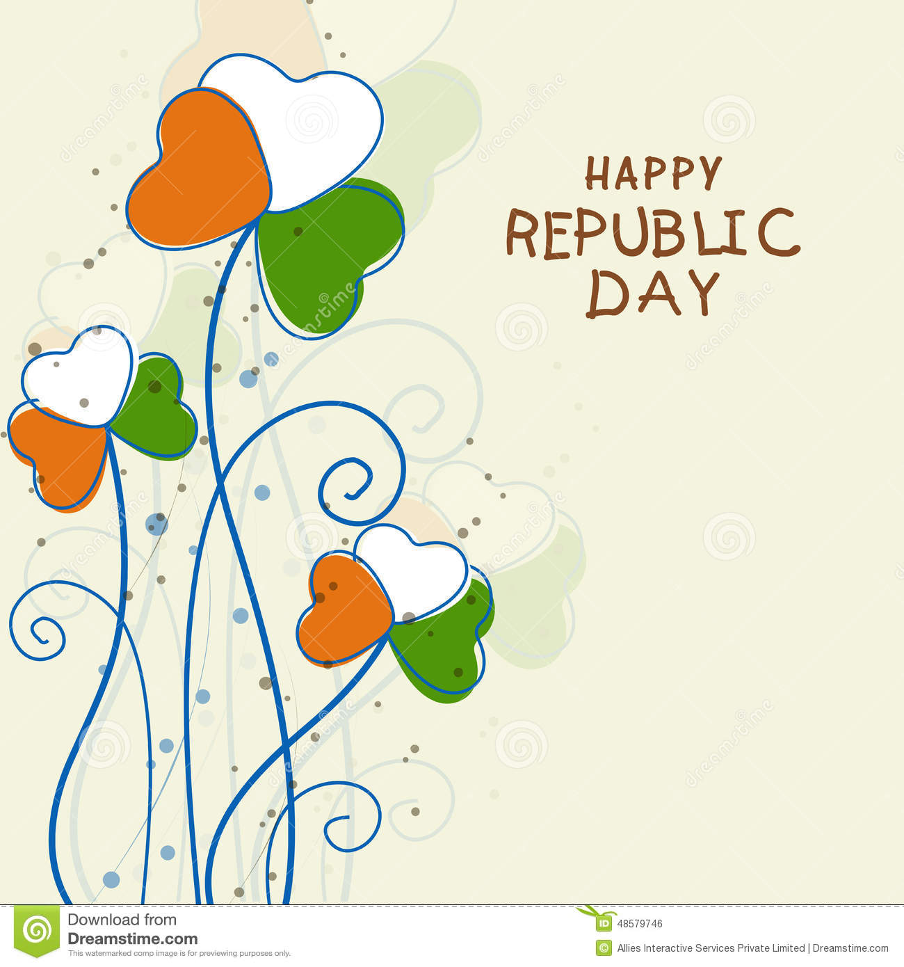 Indian republic day celebration greeting card illustration 48579746 indian republic day celebration greeting card m4hsunfo