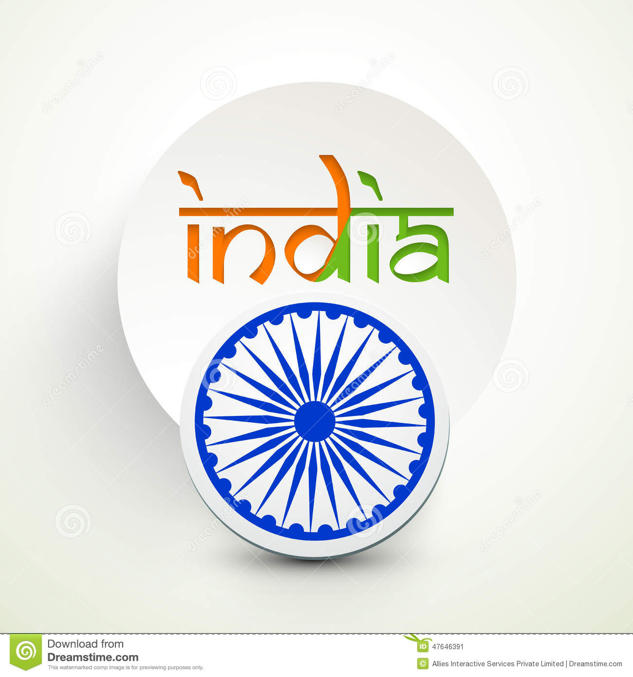 Indian republic day celebration with stylish sticker