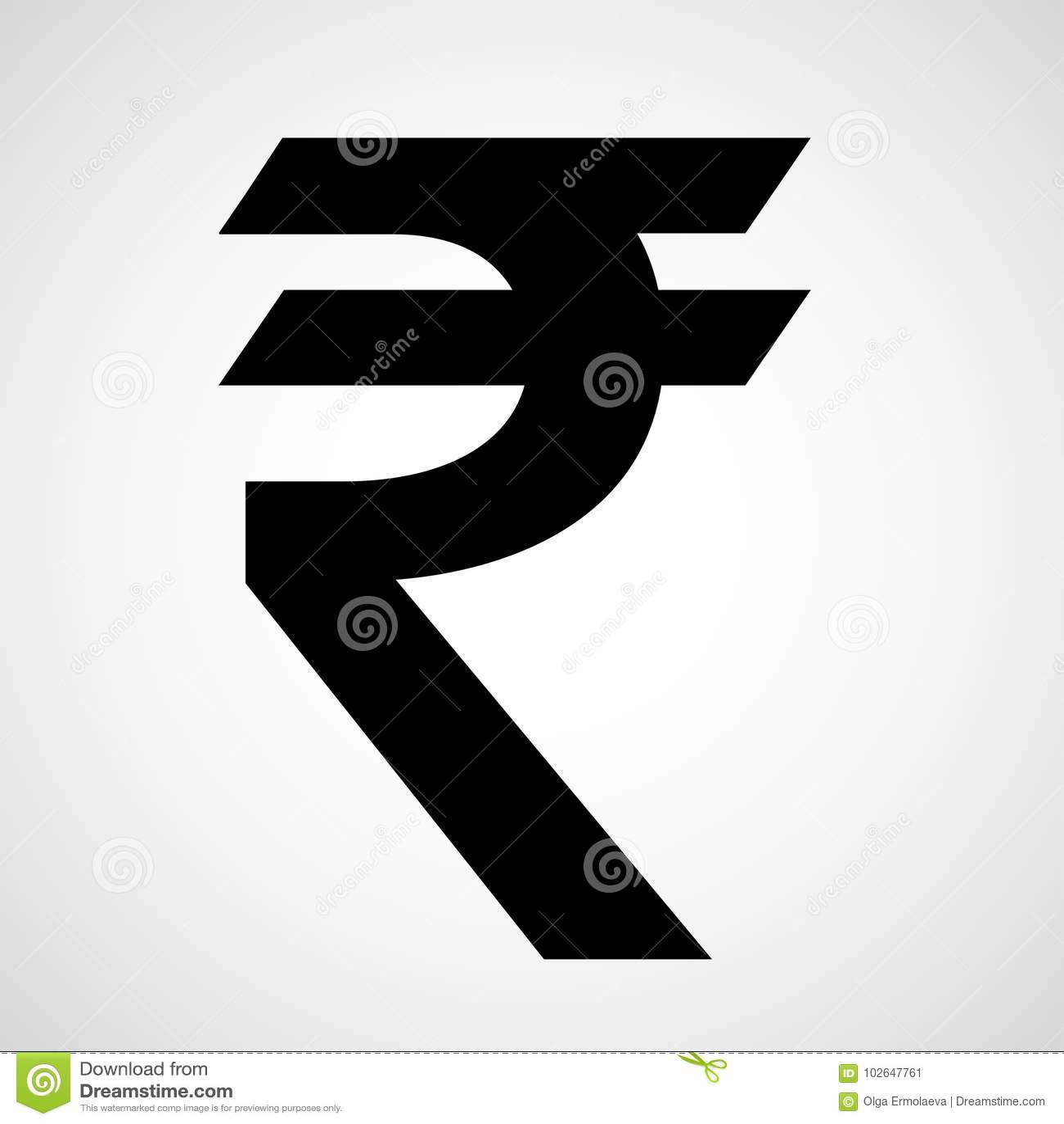 Indian Rupee Icon Stock Vector Illustration Of Economy 102647761