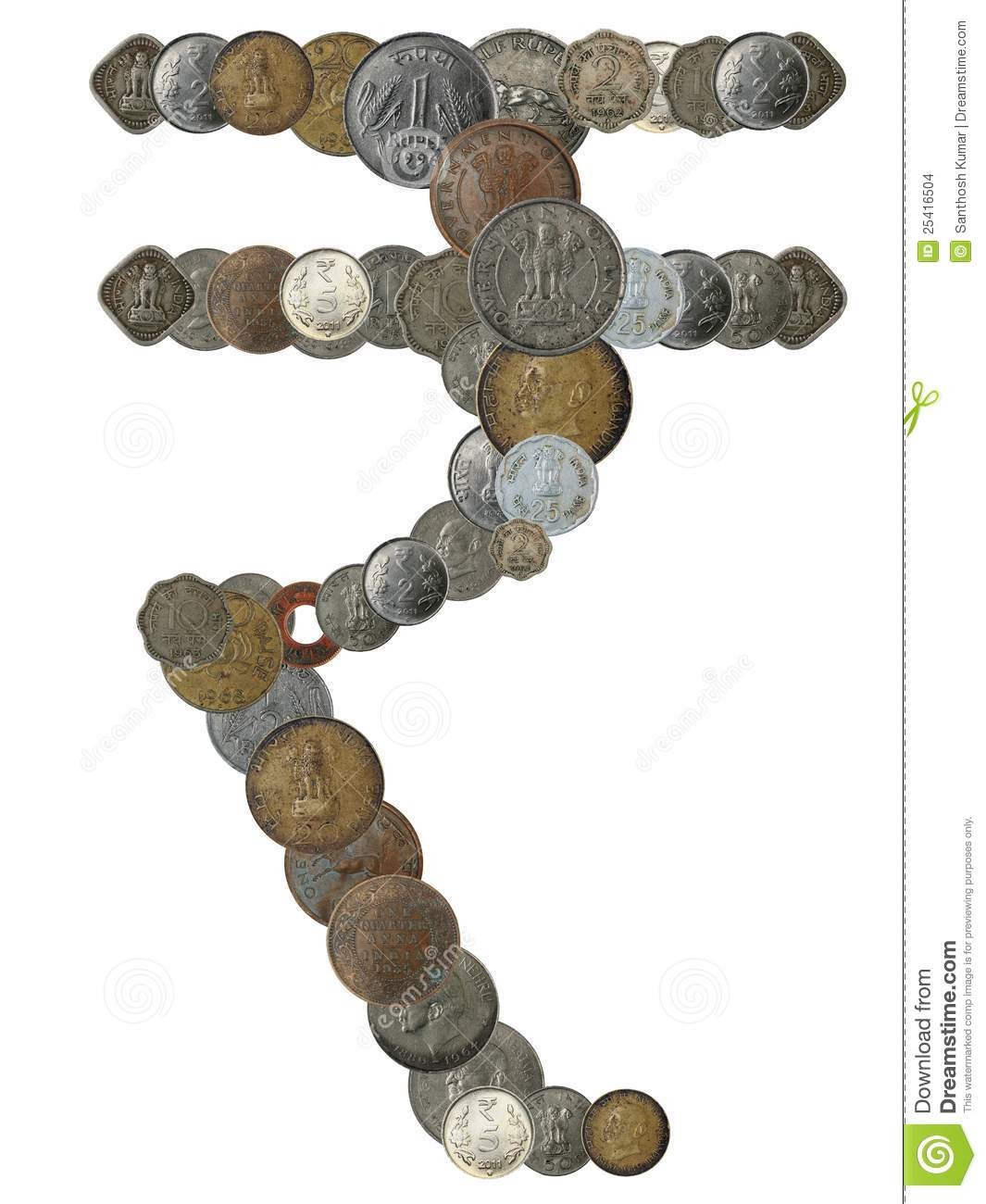 Indian rupee symbol created by arranging coins stock photo image indian rupee symbol created by arranging coins biocorpaavc Choice Image