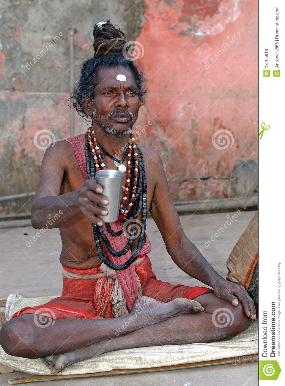 Indian Sadhu Editorial Stock Photo Image Of India Ochre