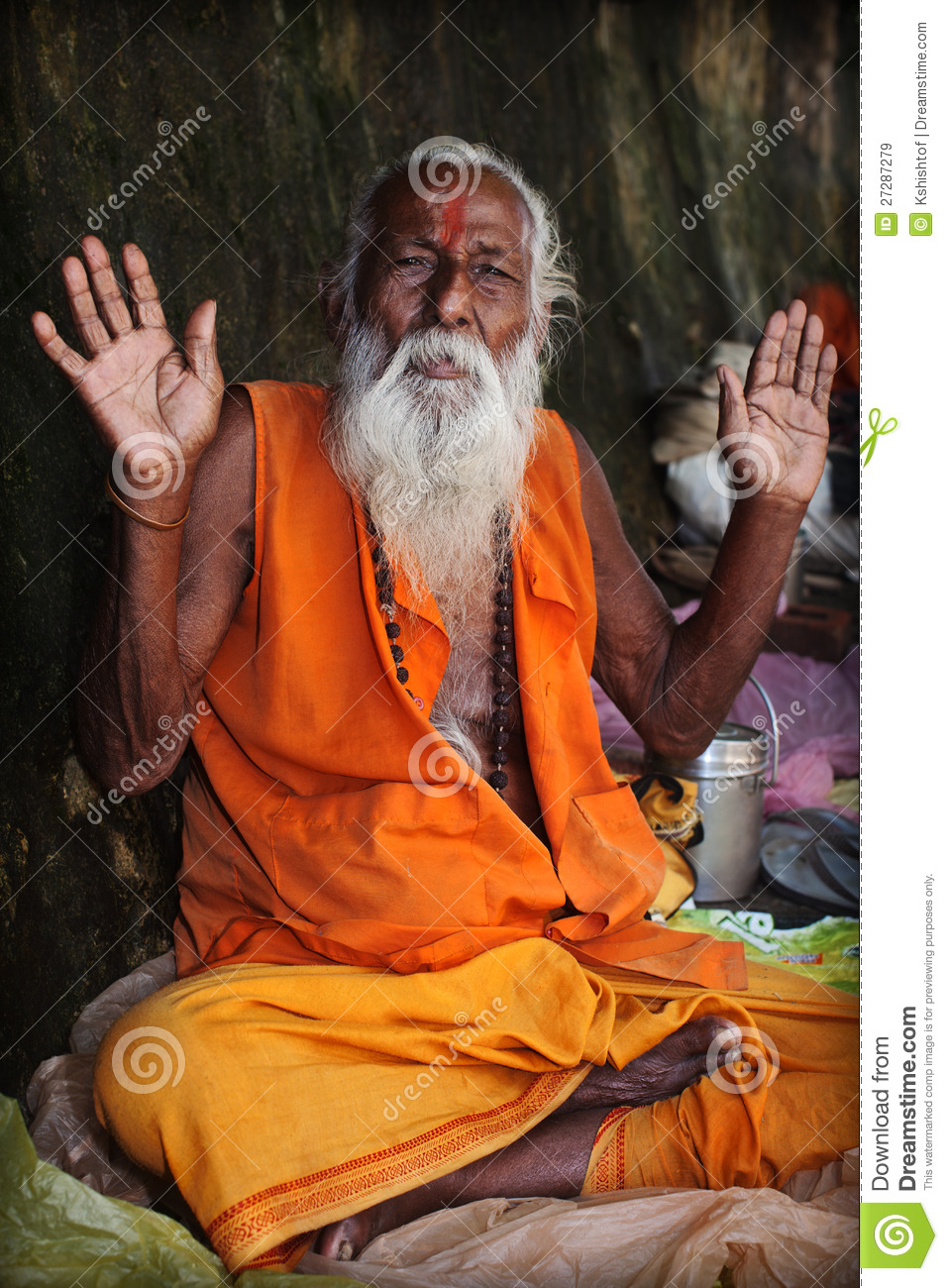 indian sadhu stock image image of person india looking