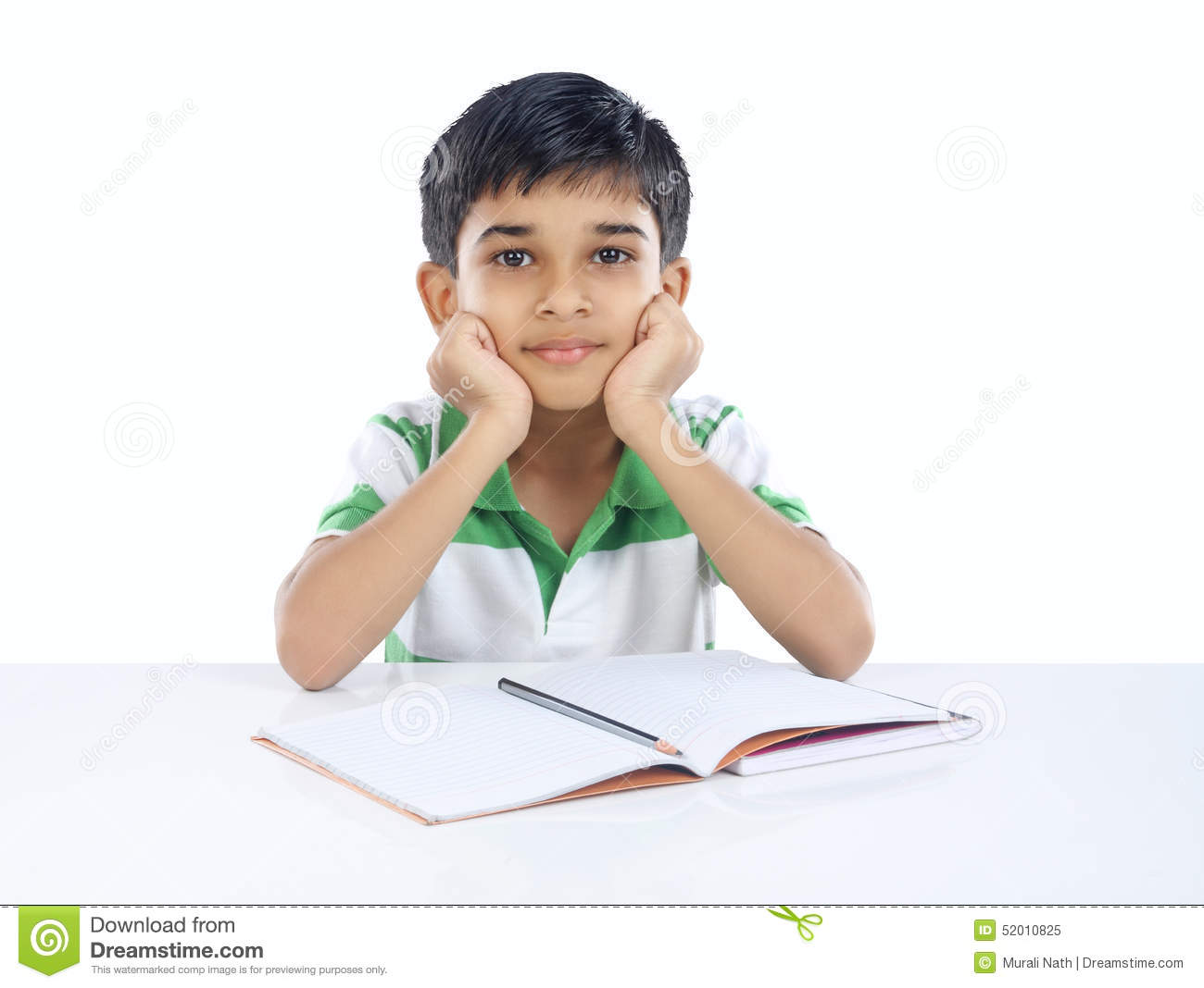 Indian School Boy With Textbook Royalty-Free Stock Photo ...