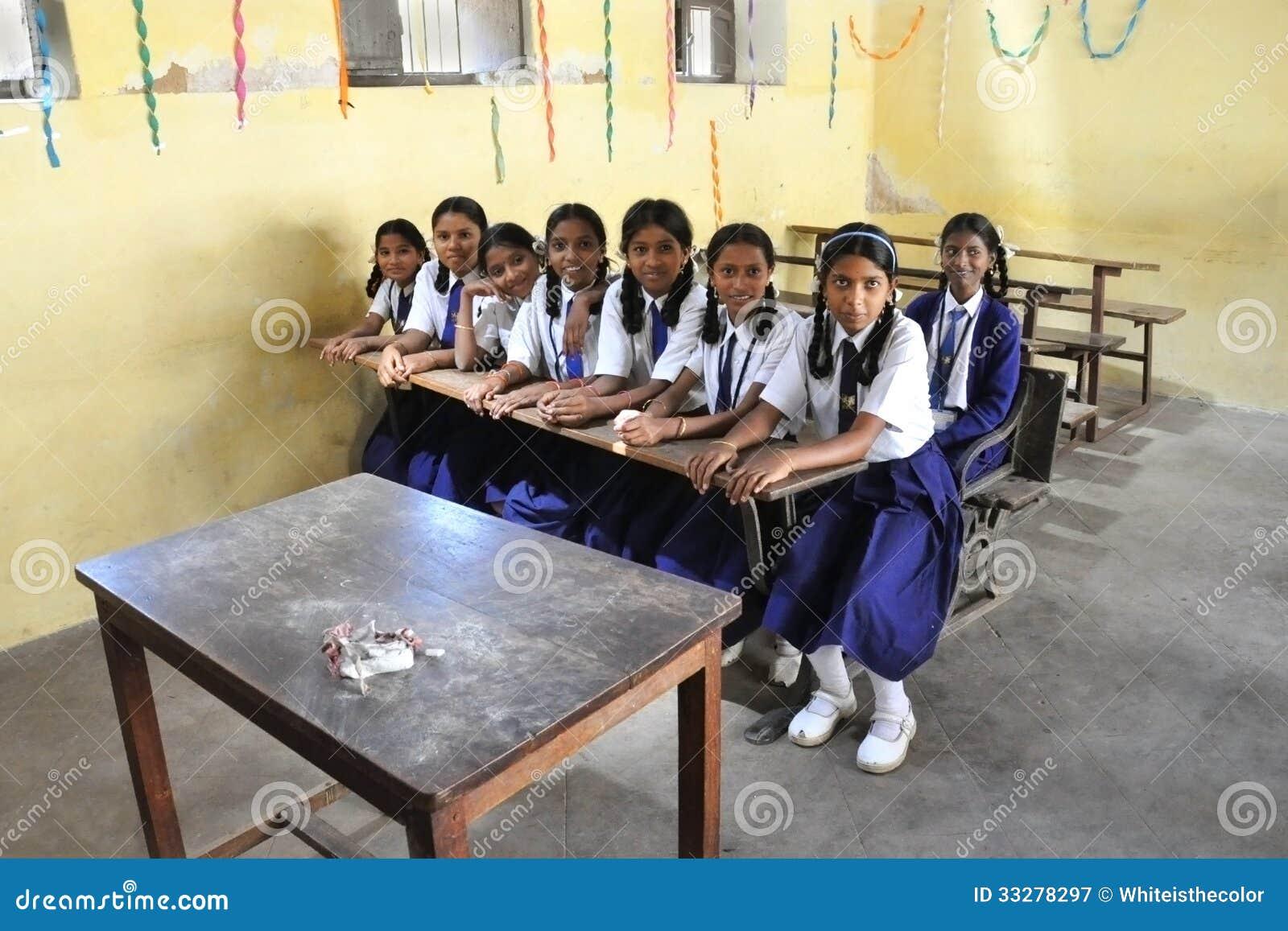 lassroom girls Indian schoolgirls in the classroom Editorial Photography