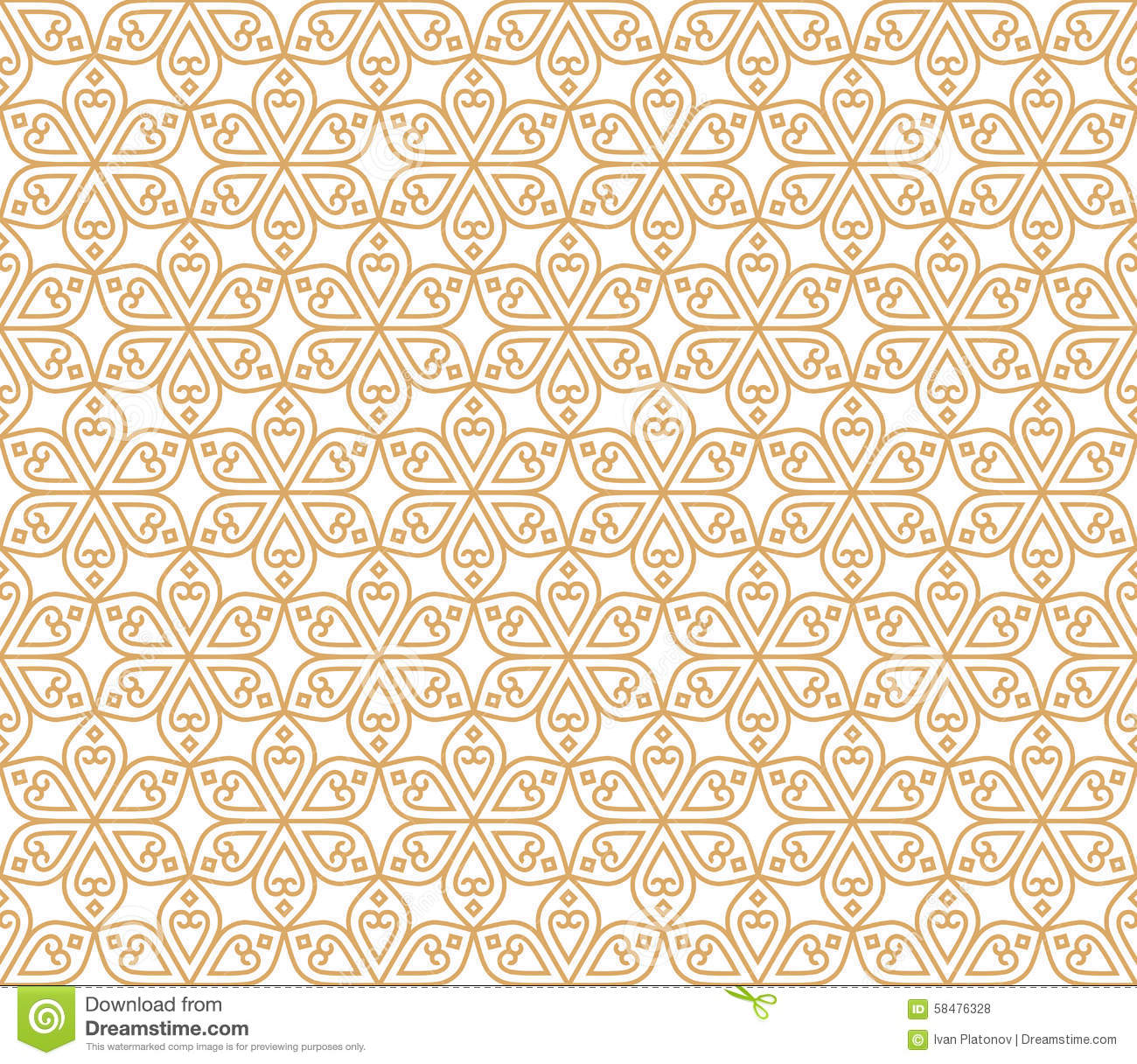 Indian Seamless Abstract Pattern Traditional Flowers