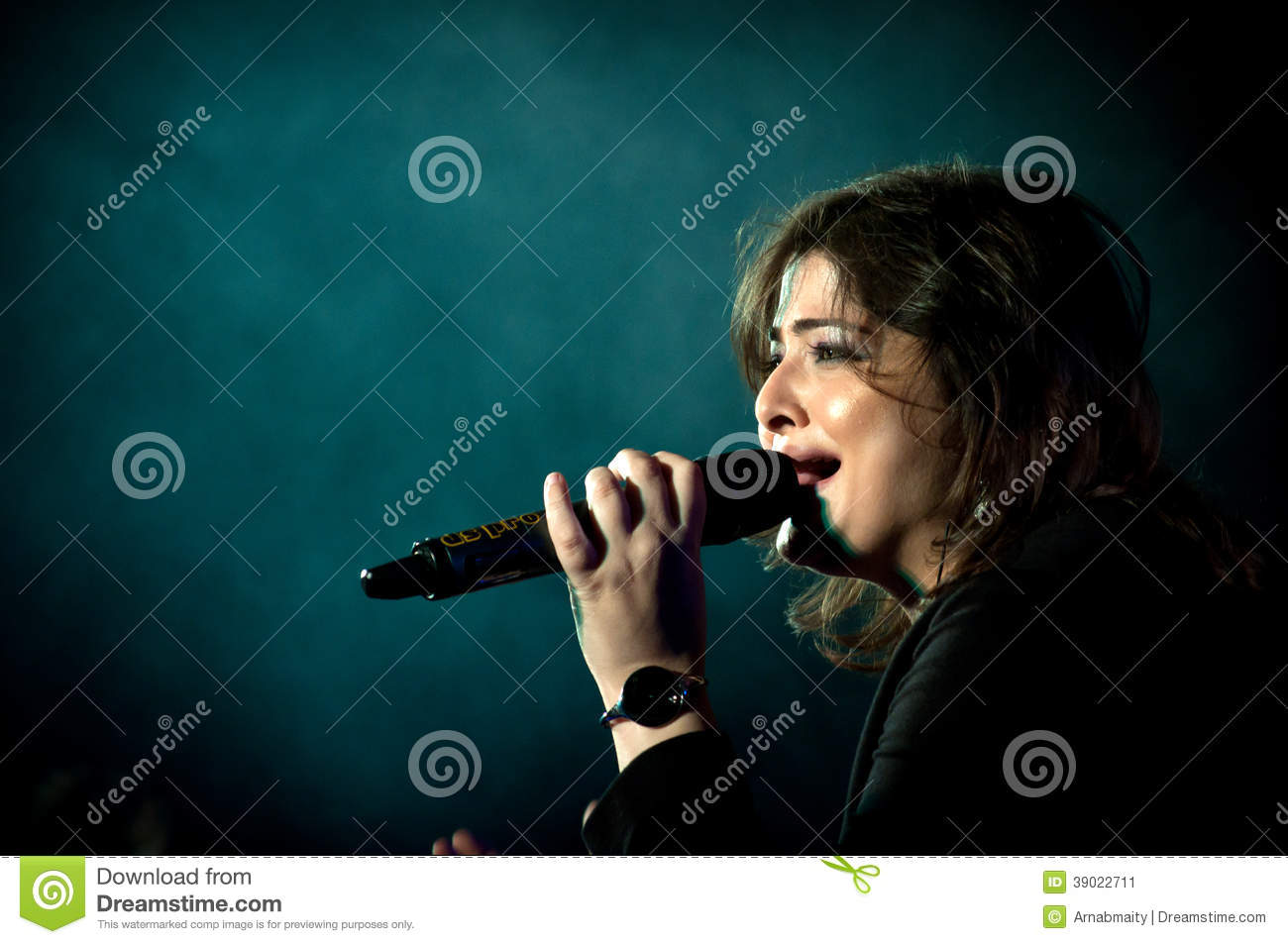 Indian Singer performing on stage