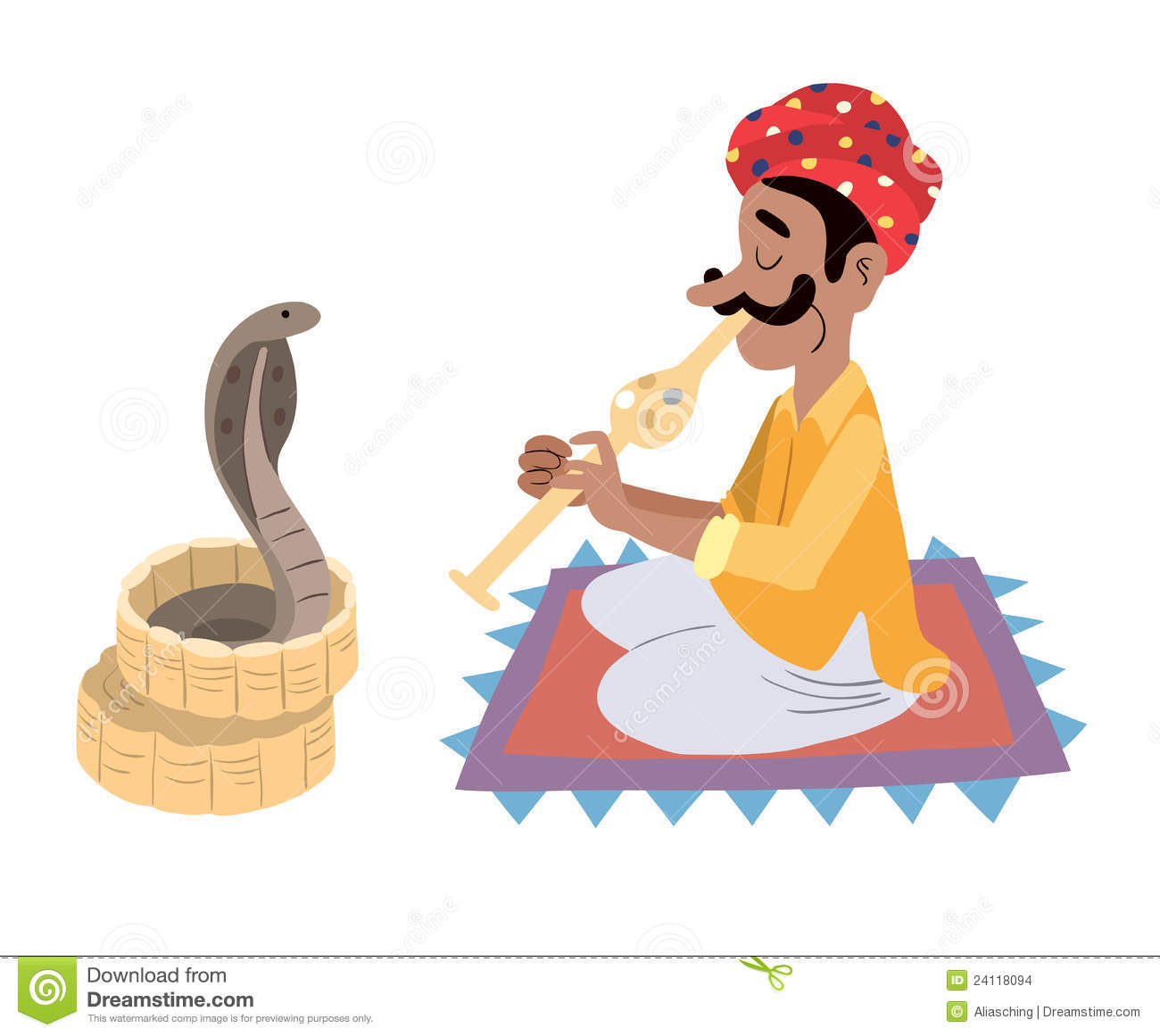 Indian Snake Charmer Stock Images - Image: 24118094 Indian Flute Clipart