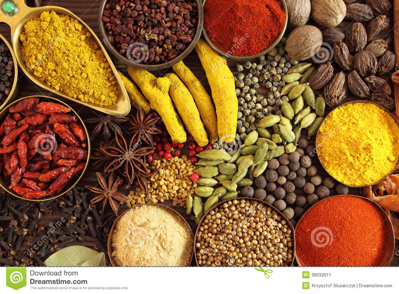 Indian spices stock image. Image of cuisine, cayenne ...