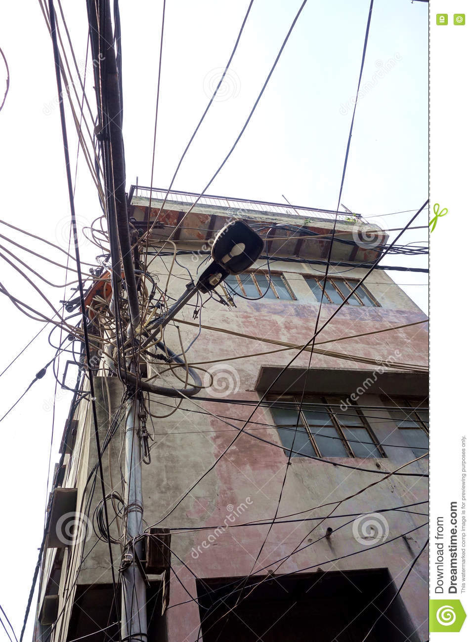 Superb Indian Street Electrical Wiring Stock Photo Image Of Hangs Supply Wiring 101 Ferenstreekradiomeanderfmnl