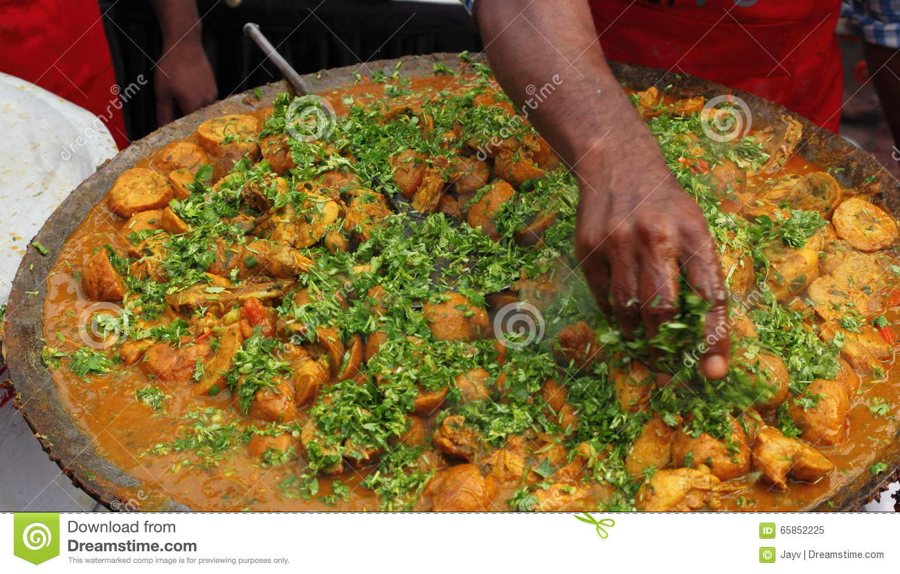 Indian Street Food Chicken Dish Stock Image Image Of Food Dhaba