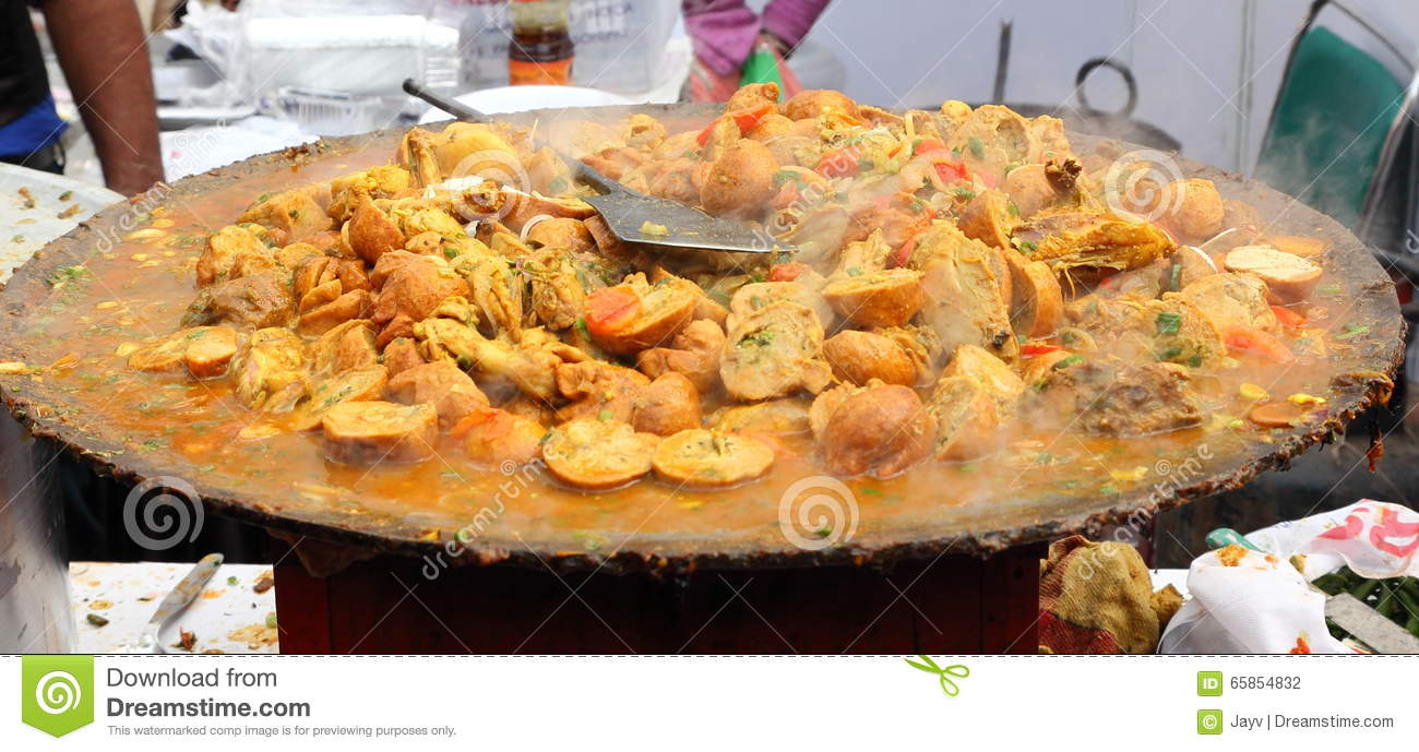 Indian Street Food Chicken Dish Stock Photo Image Of Closeup