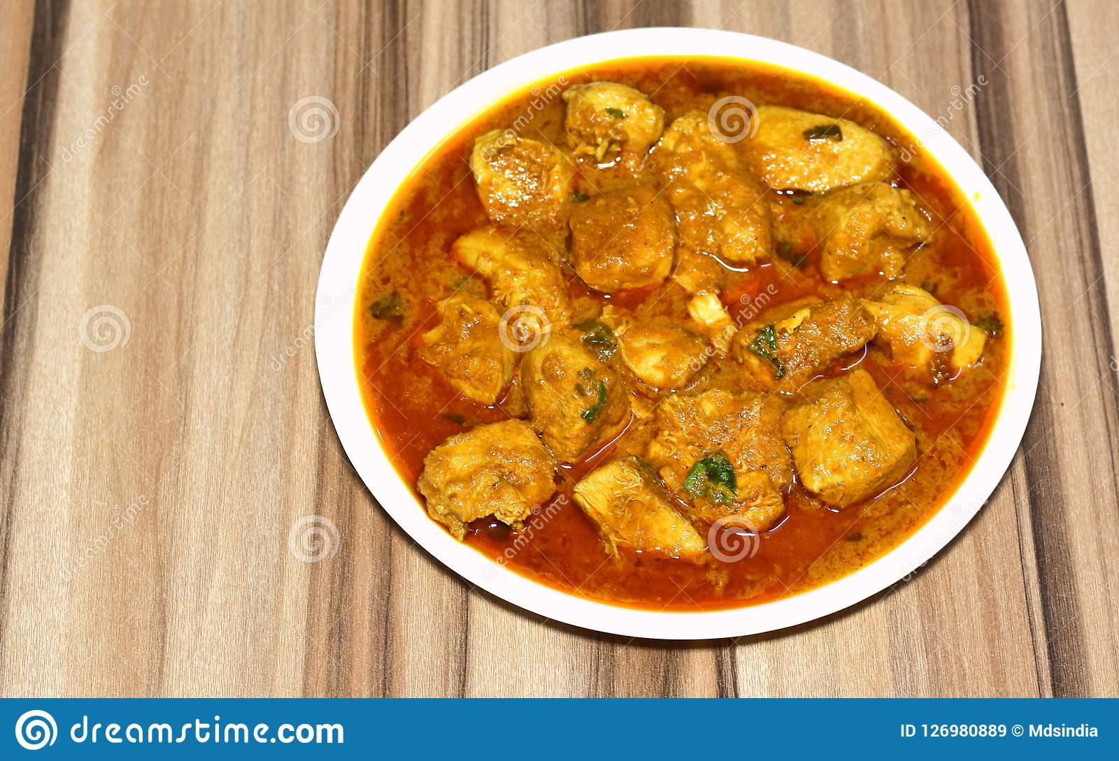 Indian Style Boneless Chicken Curry Stock Image Image Of Chef