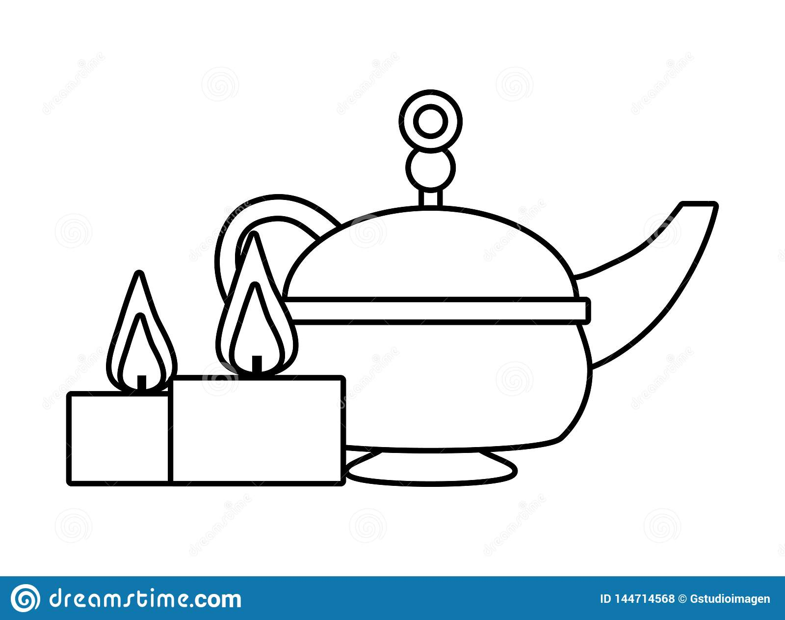 Indian tea pot stock vector. Illustration of liquid ...