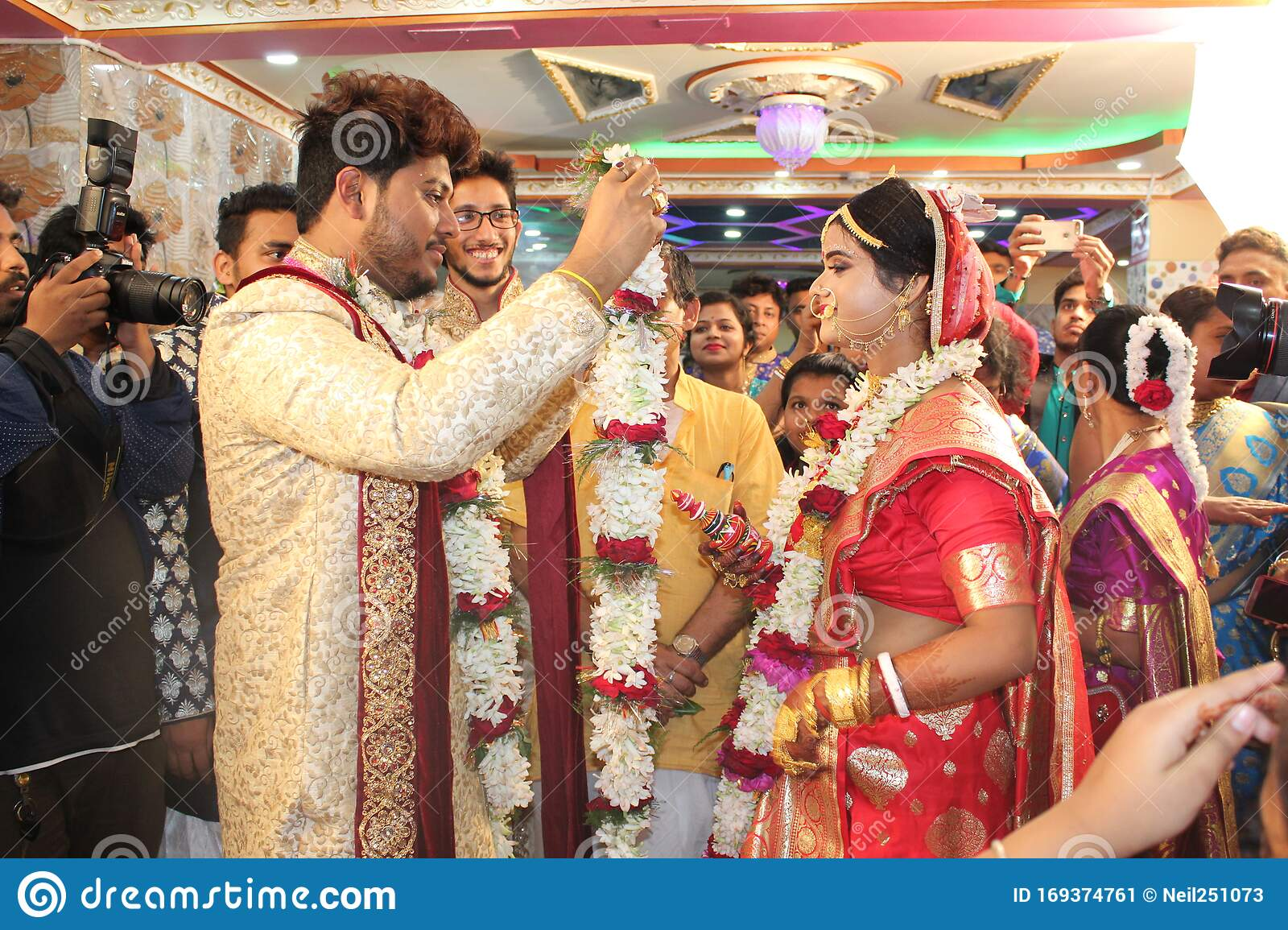 Indian Teen Couple Marriage Ceremony Editorial Photo Image Of Indian Garland 169374761