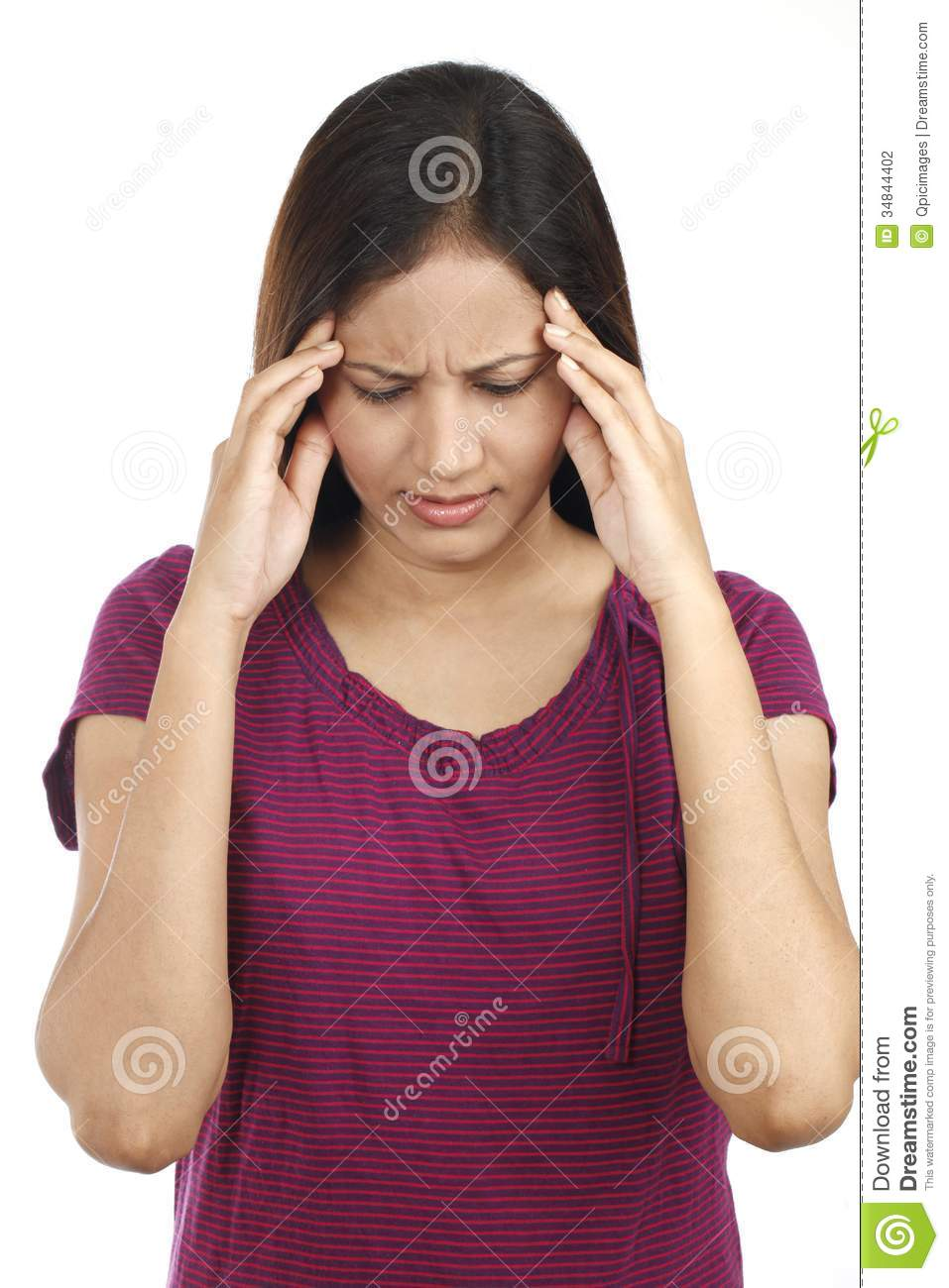 Indian Young Teen Model Fashion Glamour Model: Indian Teen With Headache Stock Photo. Image Of Head