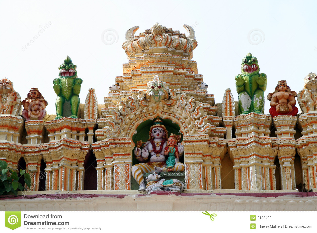 Architecture Photography Bangalore indian temple stock photography - image: 2132402