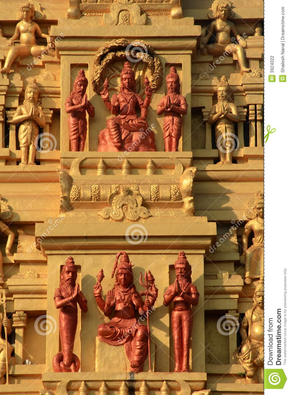 Indian temple stone carvings stock photography image