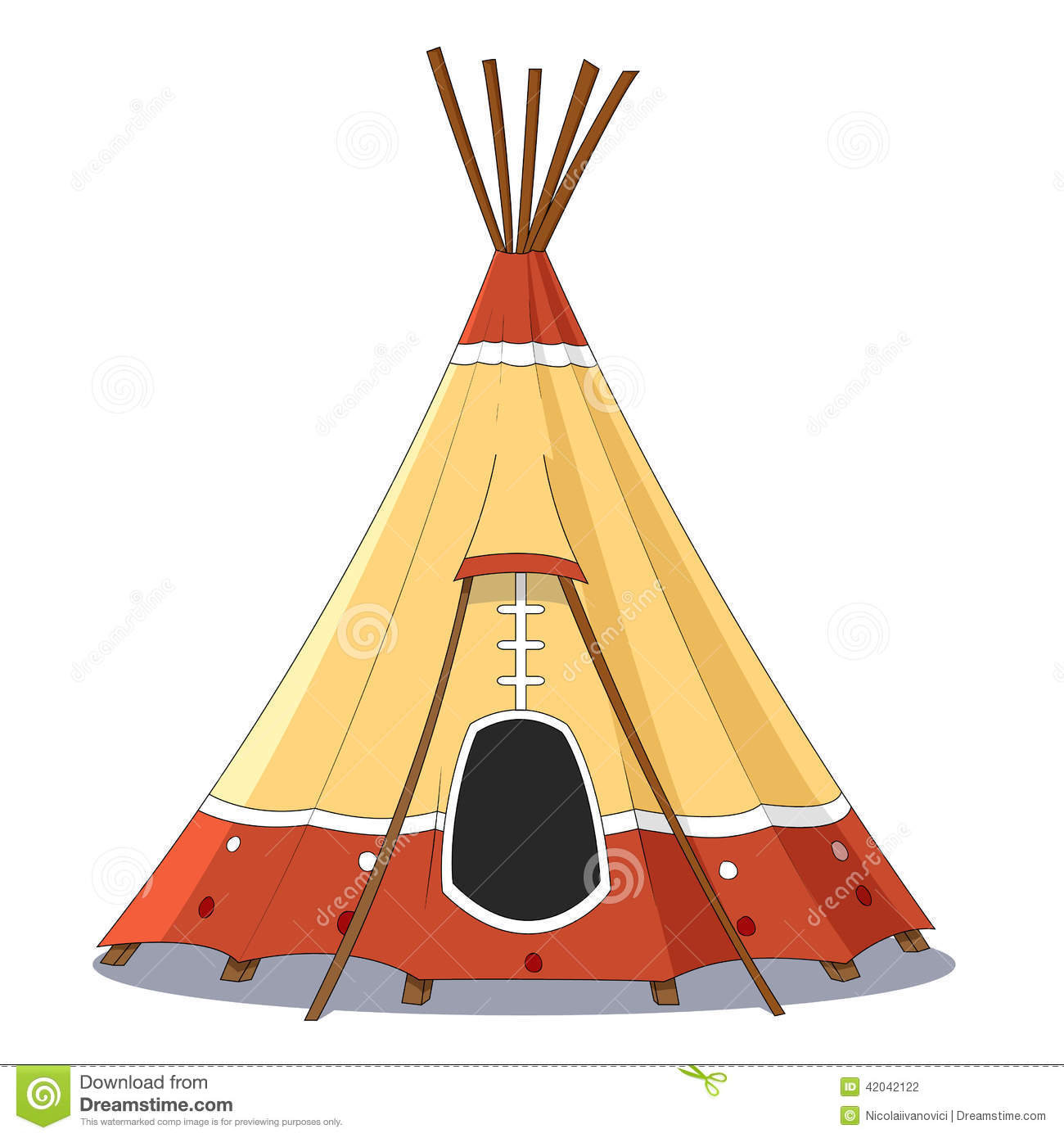 Indian Tent Stock Vector Image 42042122