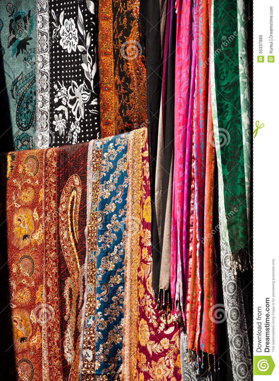 Indian textile stock image  Image of industry, abstract