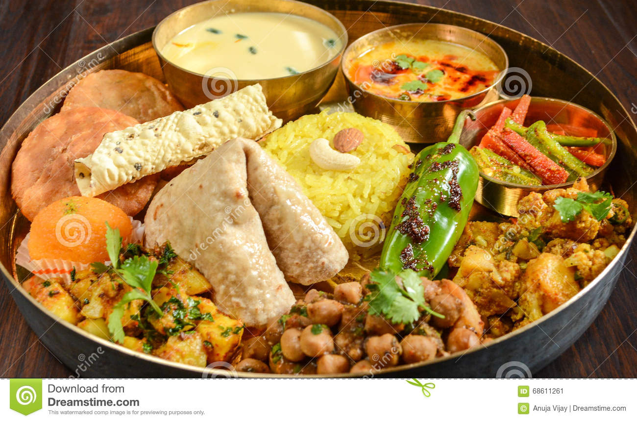 Indian thali stock photo image 68611261 for All about indian cuisine