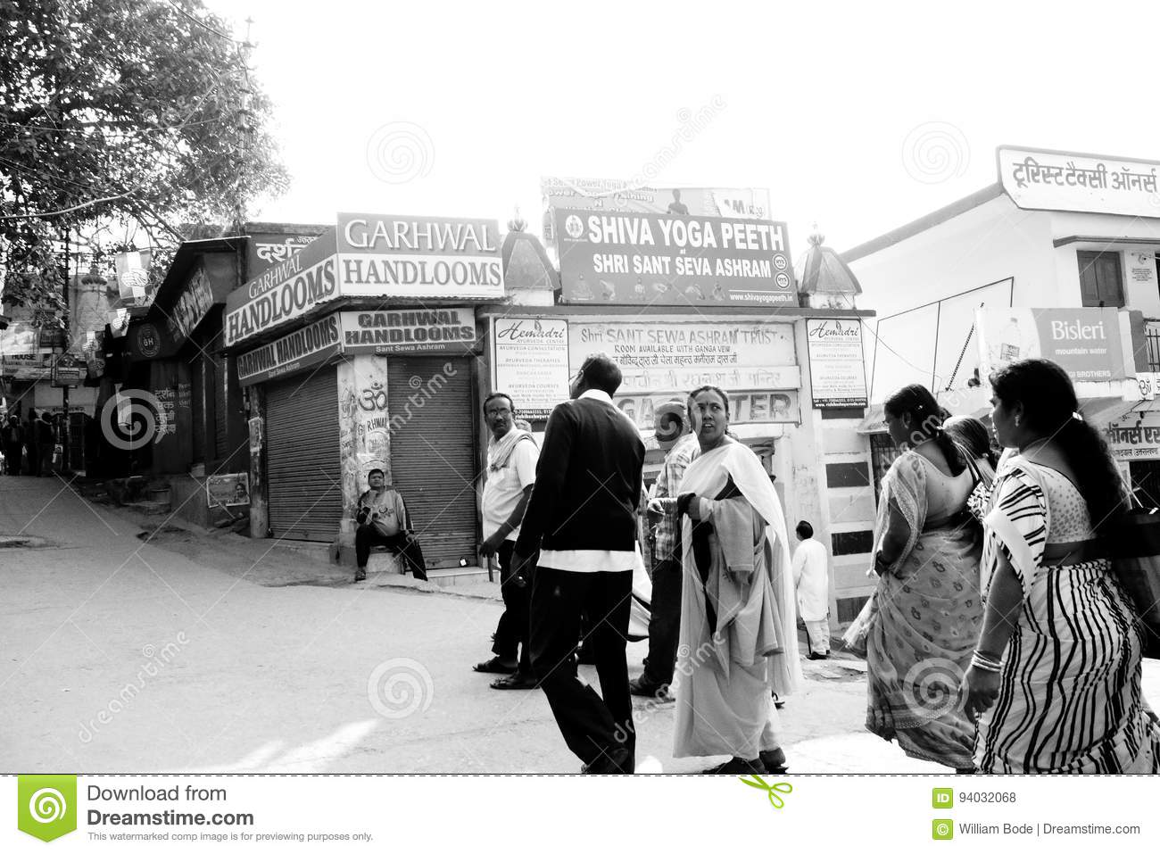 Indian Tourists In Rishikesh Editorial Stock Photo Image Of