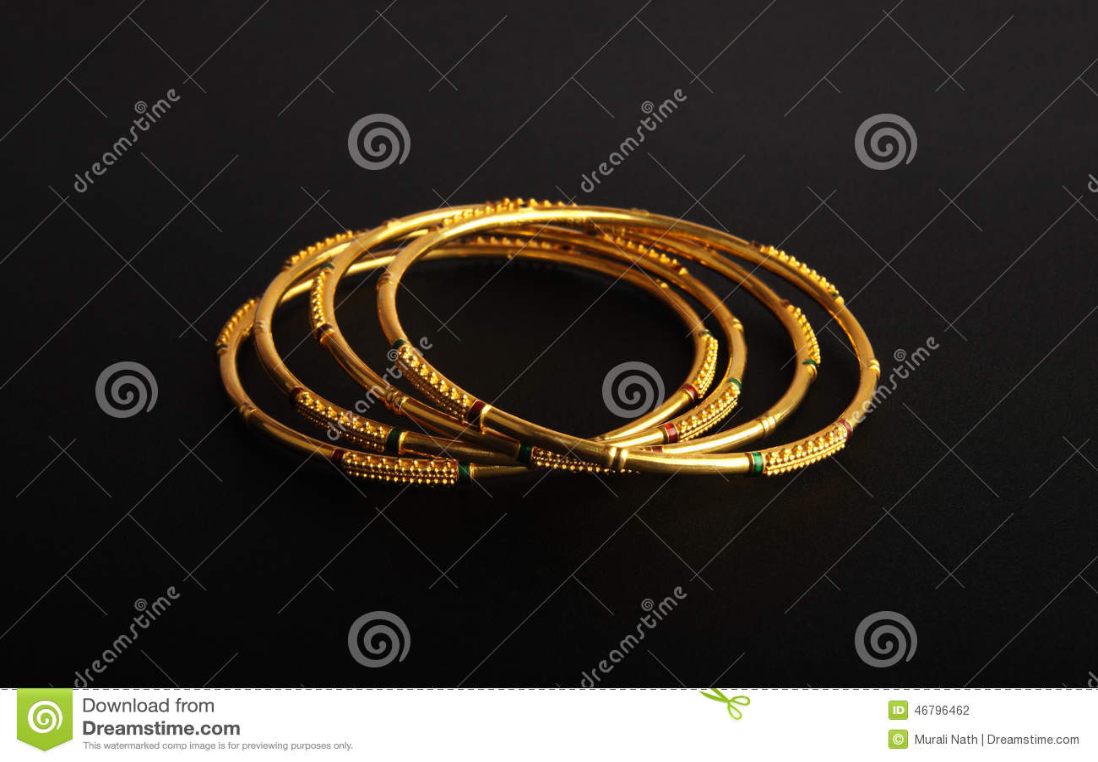 Gold Bangles Stock Photos Gold Bangles Stock Photography ...