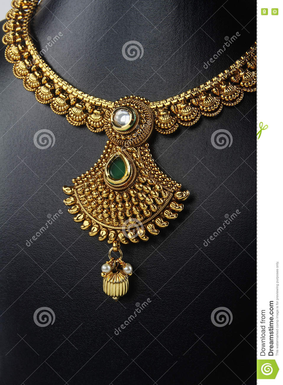 Indian Traditional Gold Necklace Stock Photo Image Of Fashion