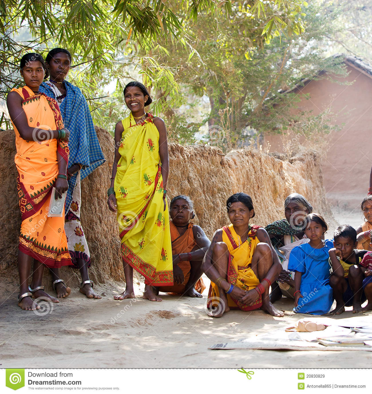 indian tribal women  Indian Tribal Women In The Village Editorial Stock Image - Image of ...